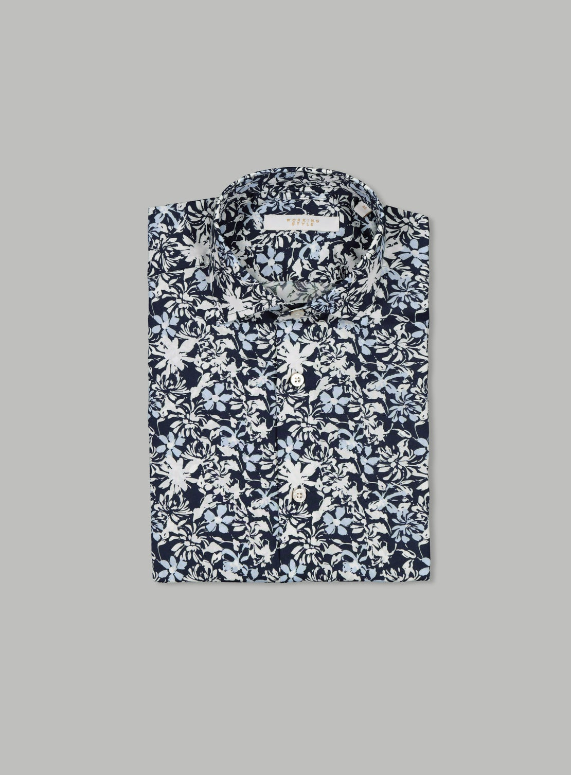 Lucio Blue Floral Shirt