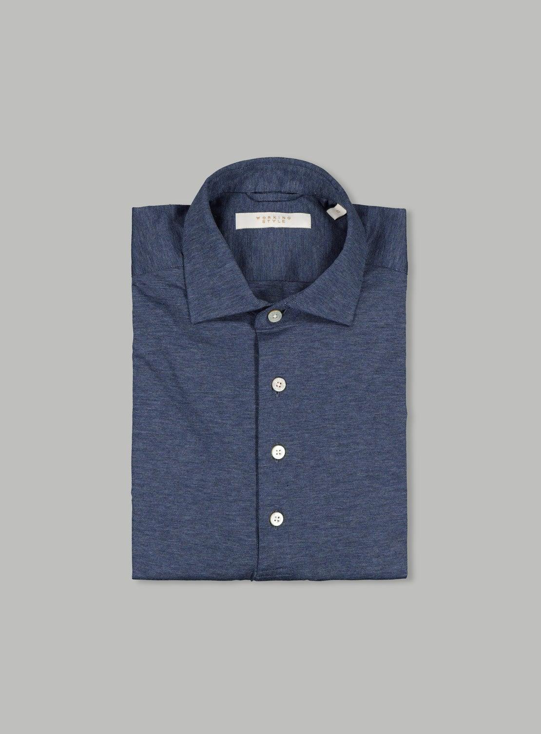 Lucky 3/4 Placket Royal Blue Knit Shirt