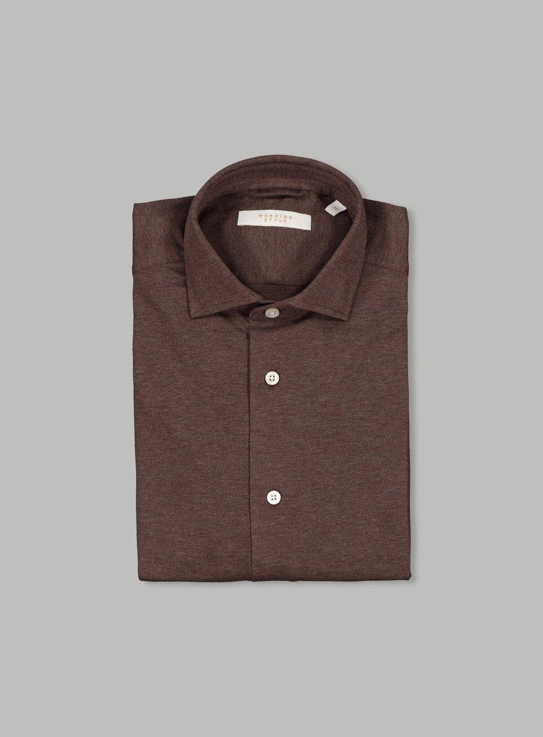 Lucky Chocolate Knit Shirt