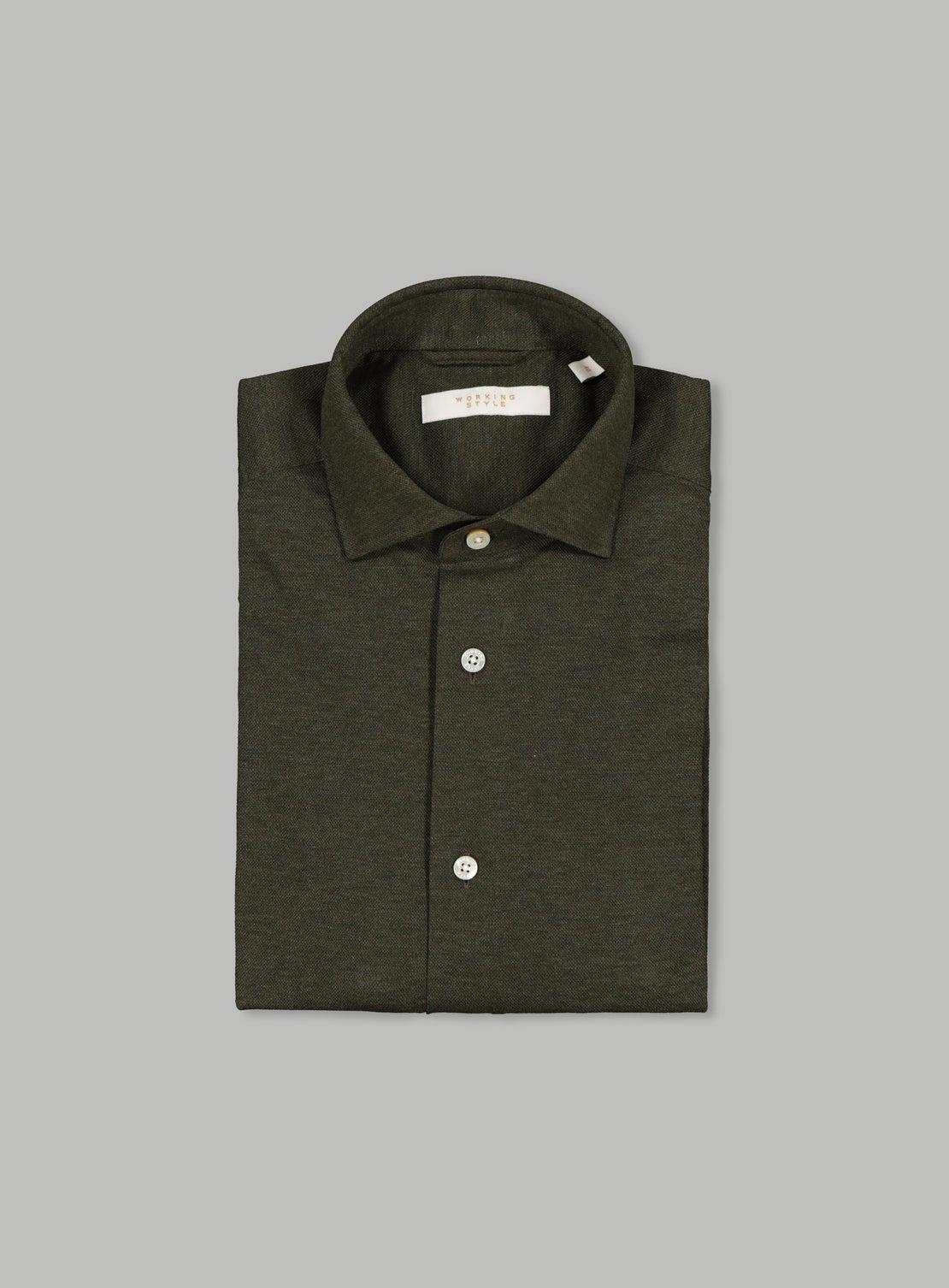Lucky Dark Green Pique Knit Shirt