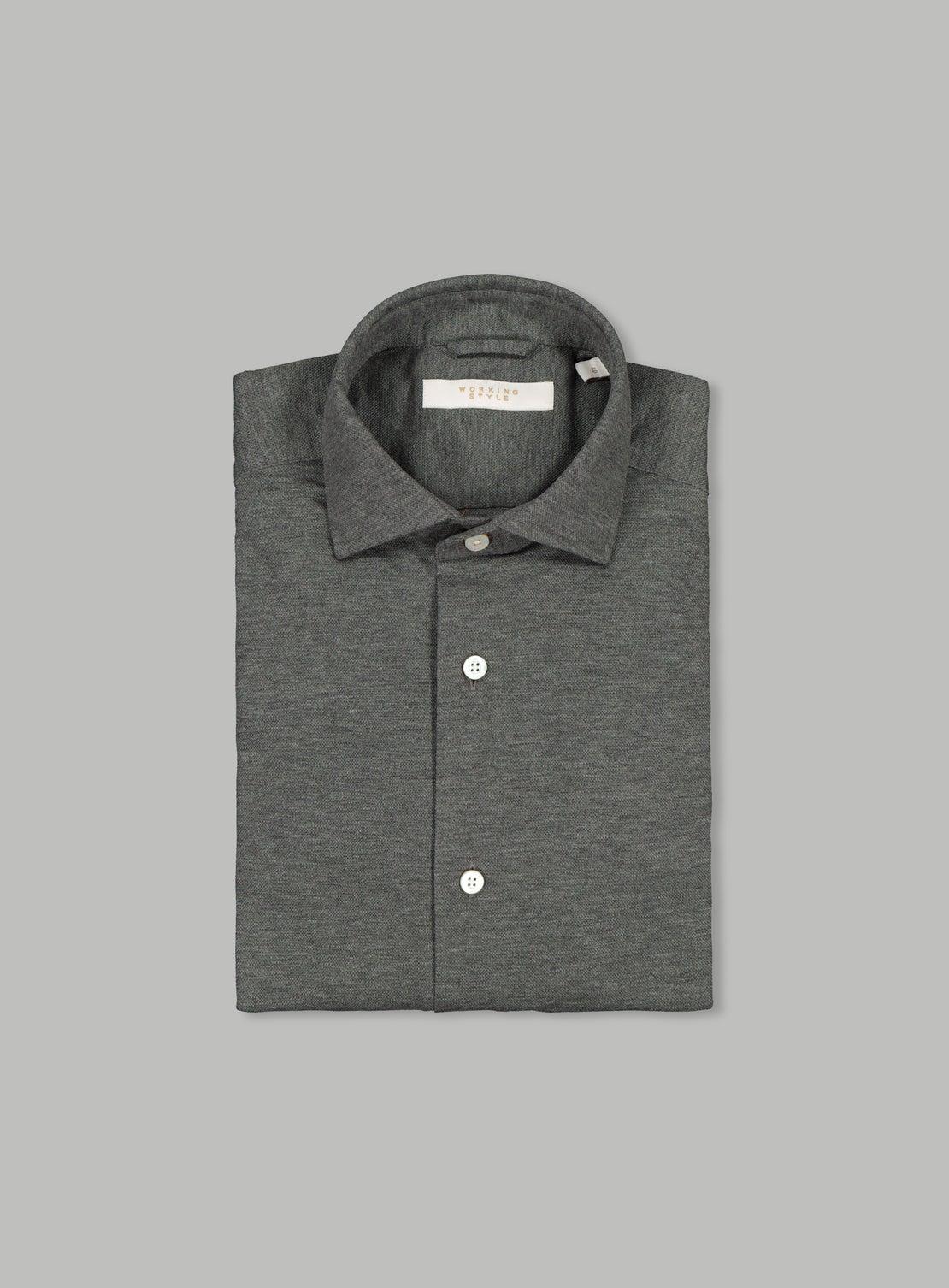 Lucky Grey Knit Shirt