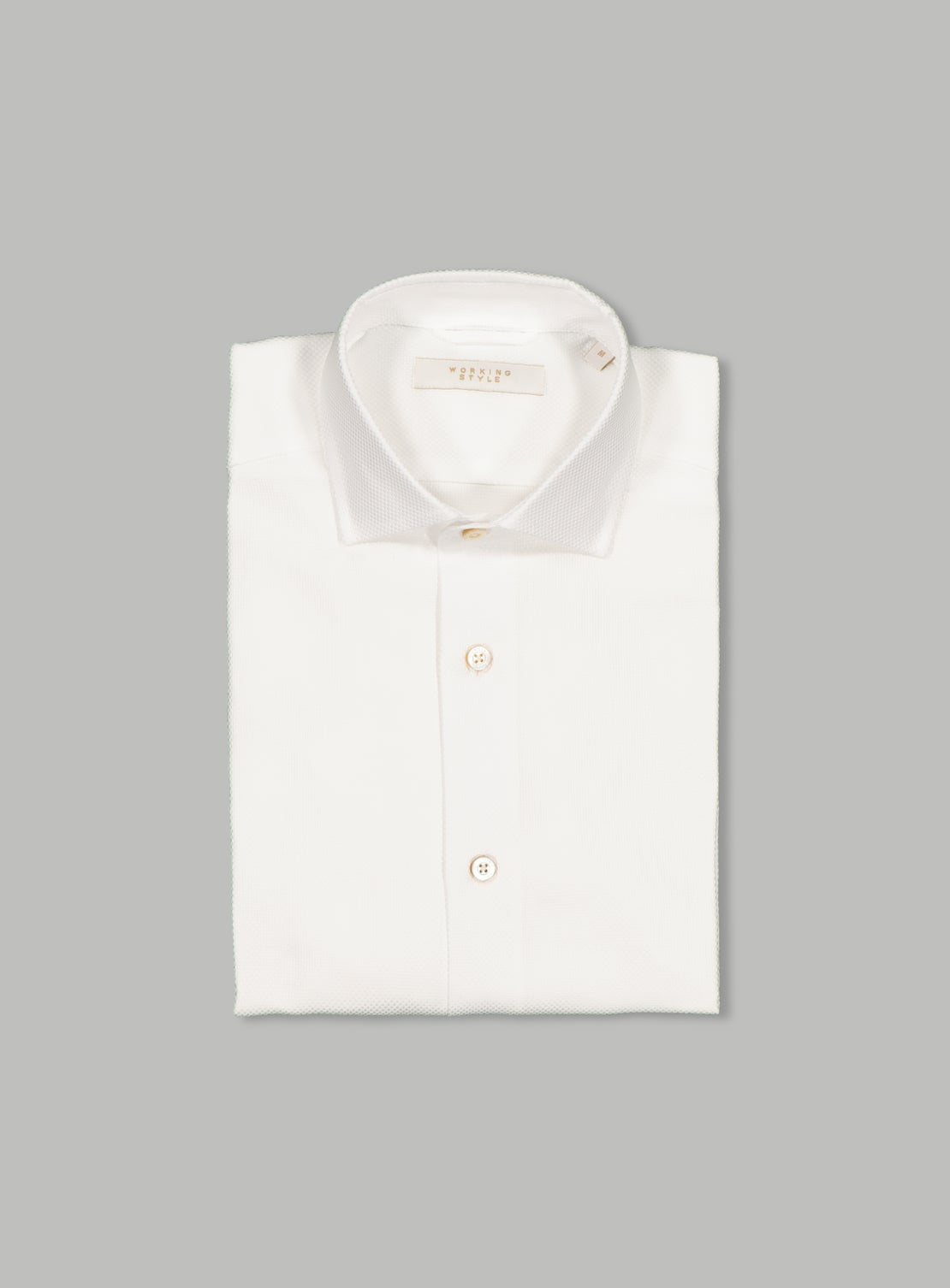 Luxe White Basket Weave Shirt
