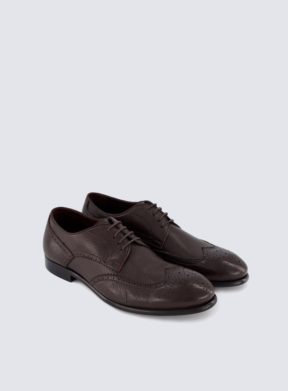 Lydon Chocolate Deerskin Shoe