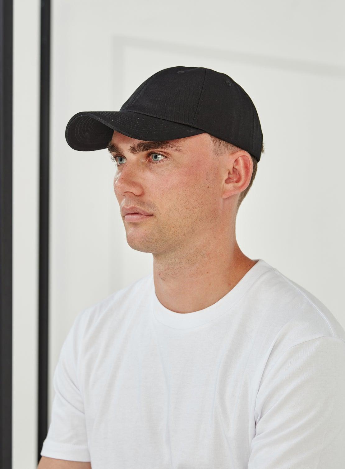 Mantle Black Cotton Twill Cap