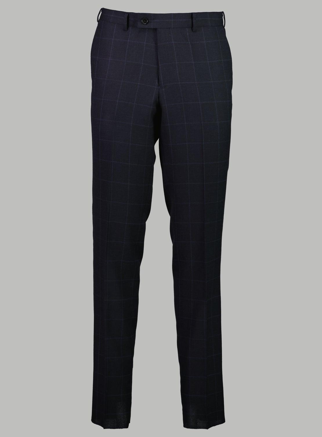 Martin Navy Windowpane Check Suit