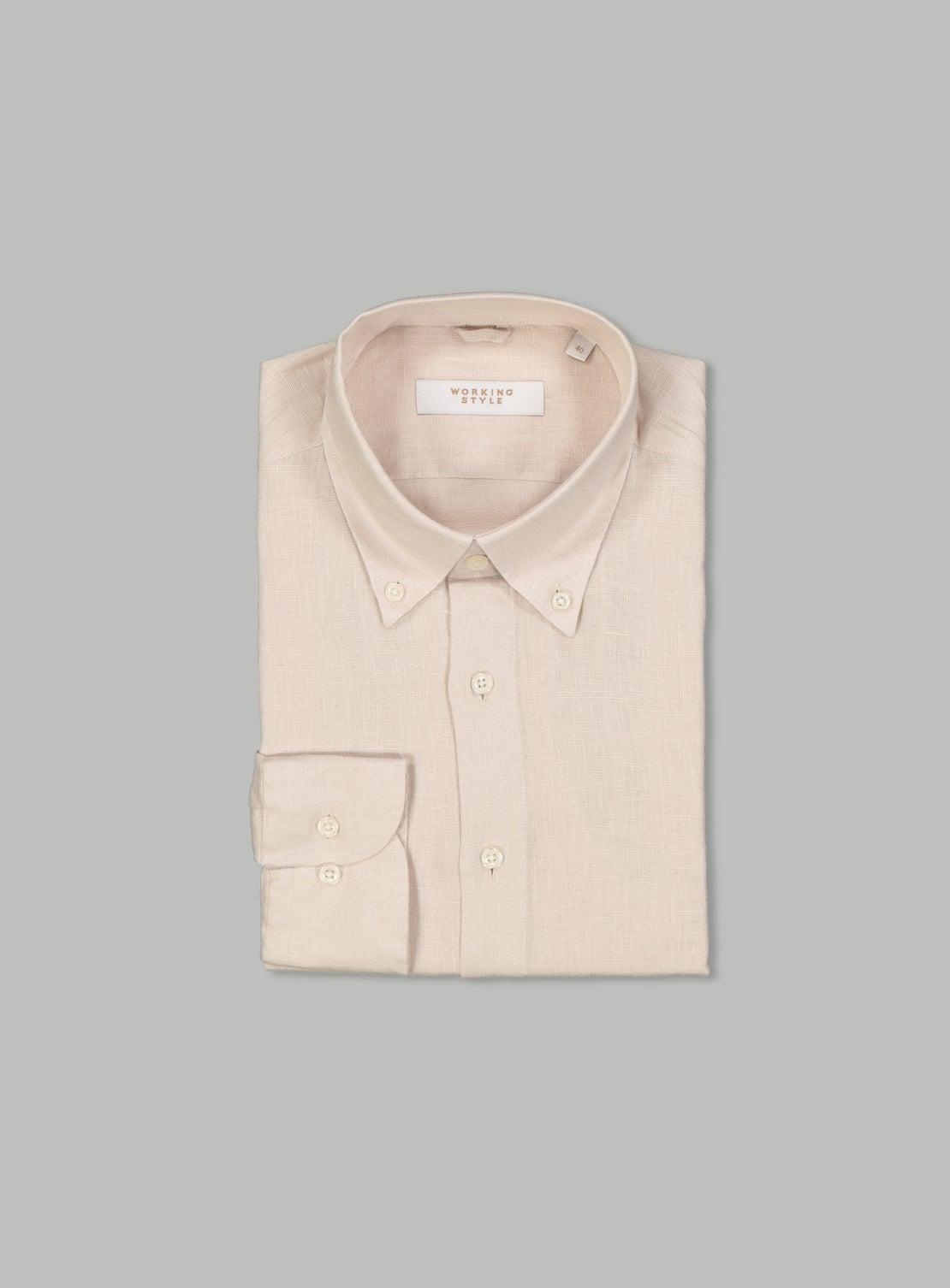 Massimo Beige Linen Shirt