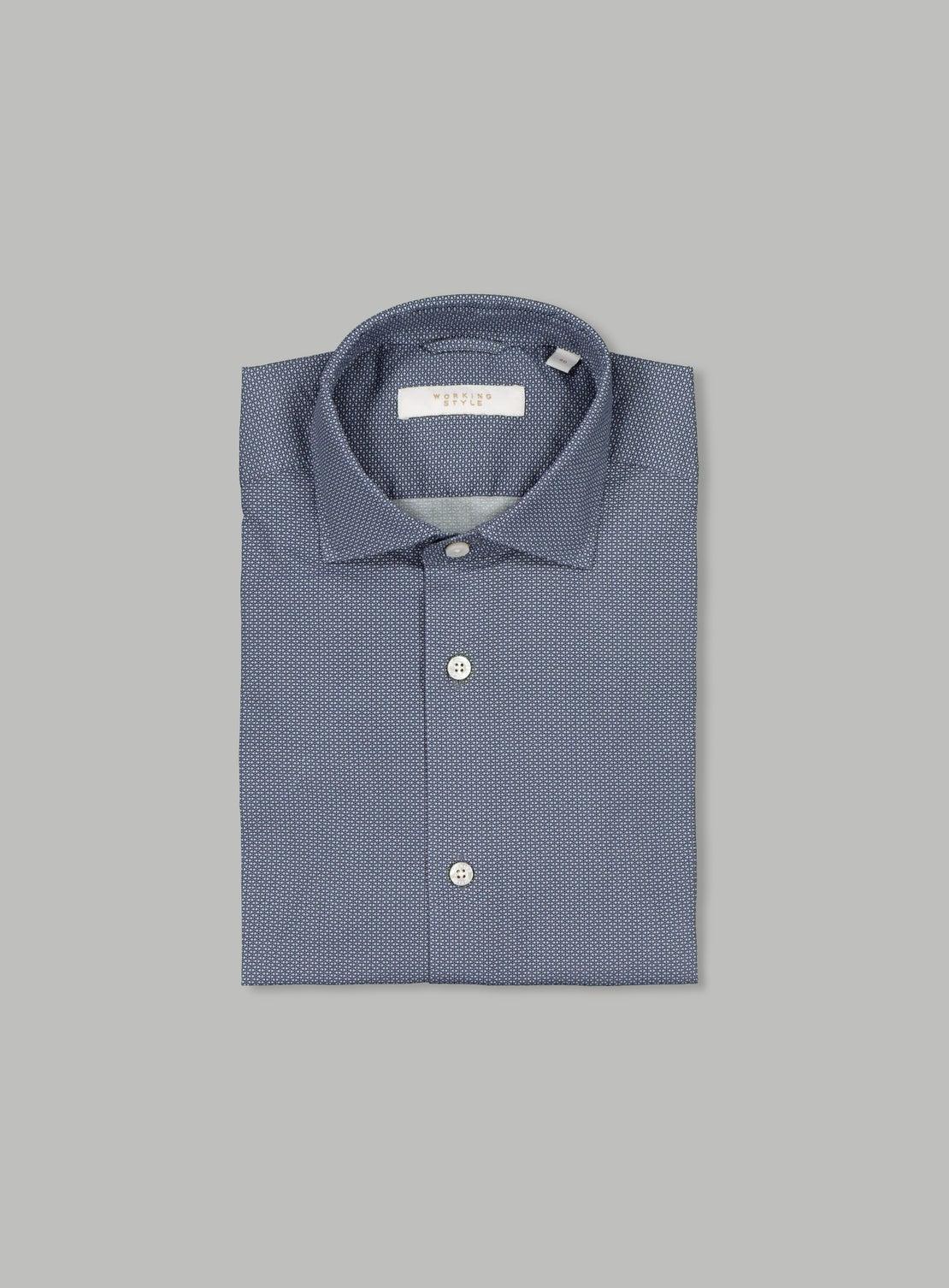 Micro Dot Stretch Shirt