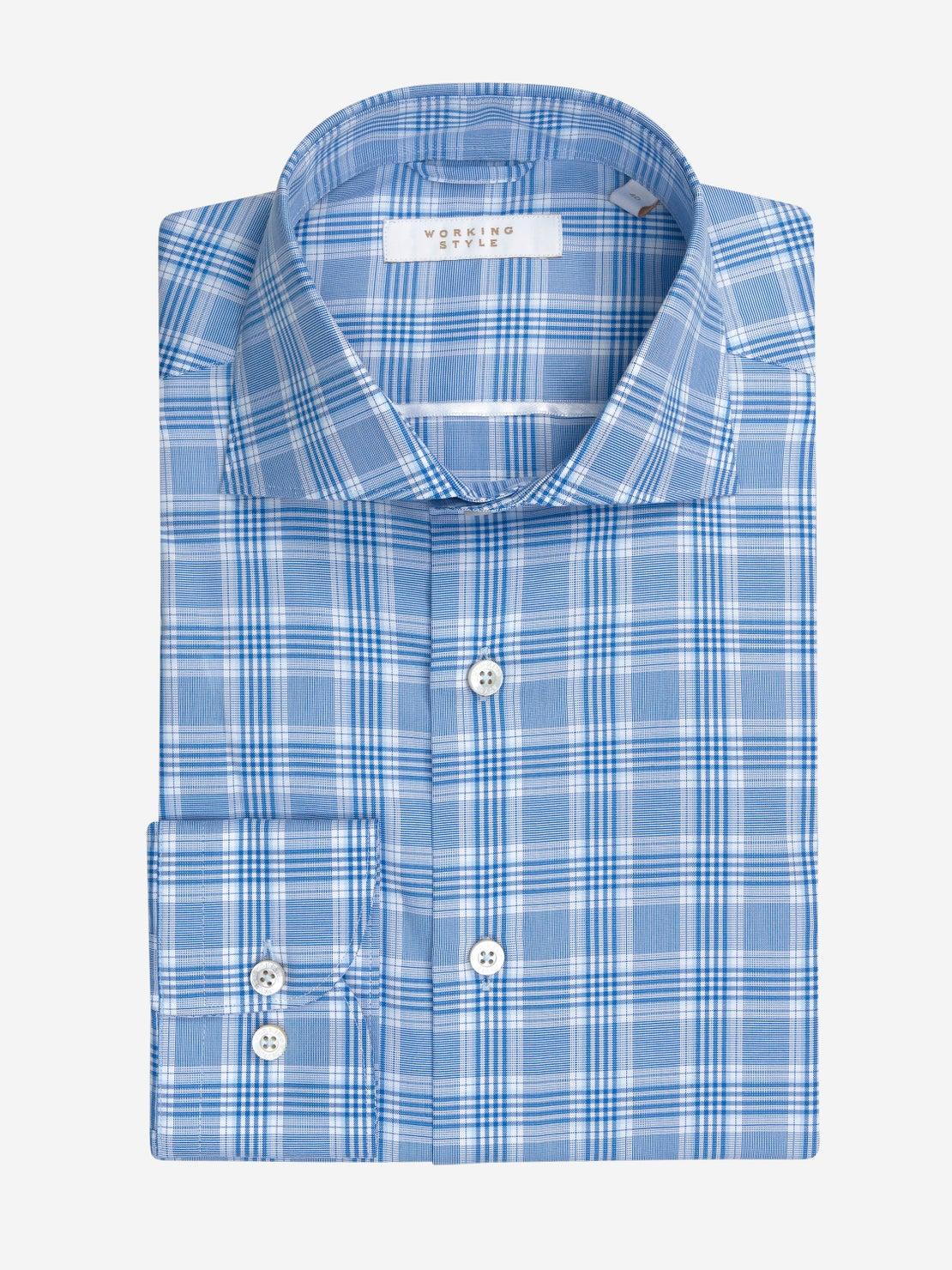 Mid Blue POW Check Shirt