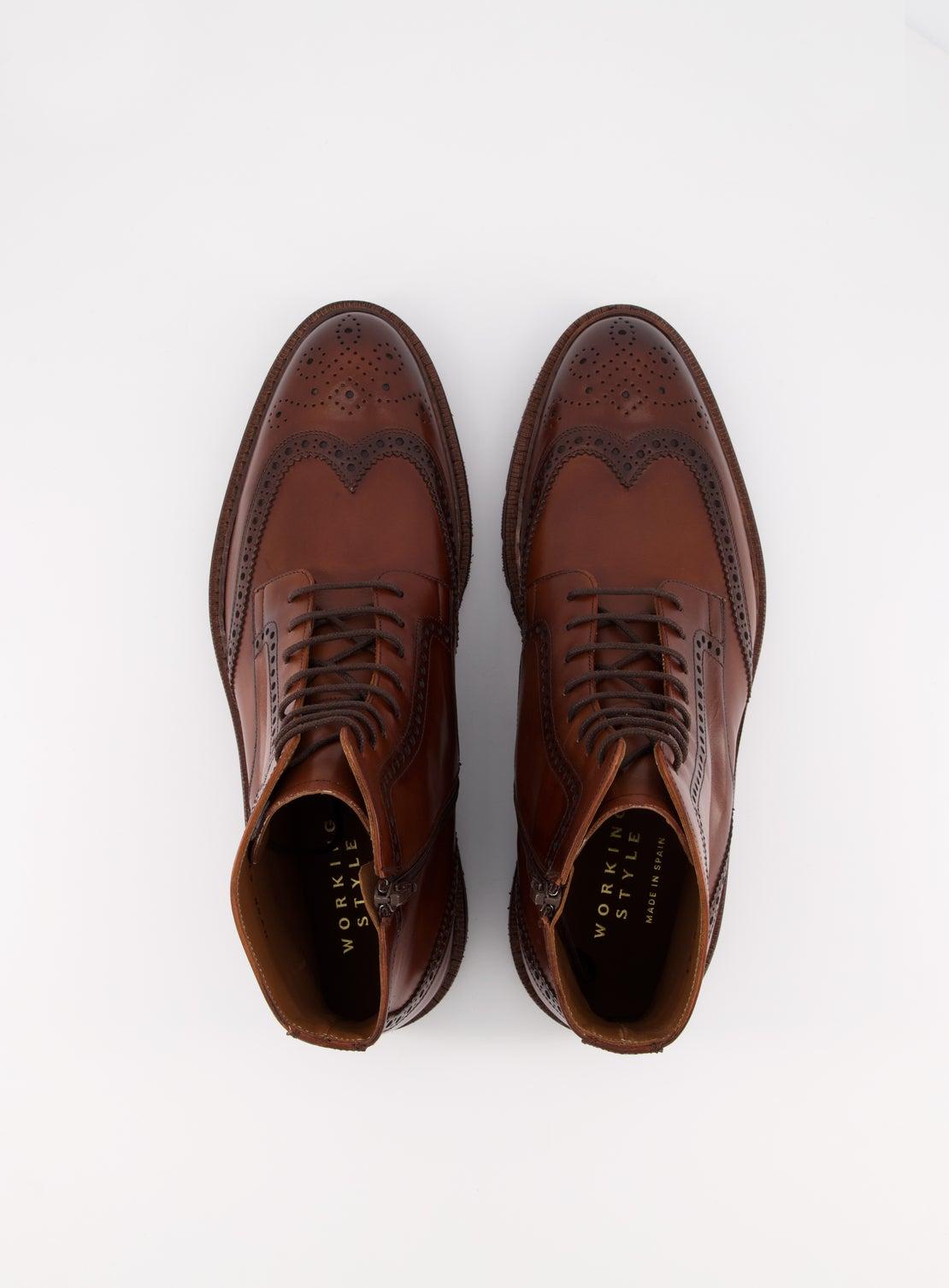 Mid Brown Brogue Boot