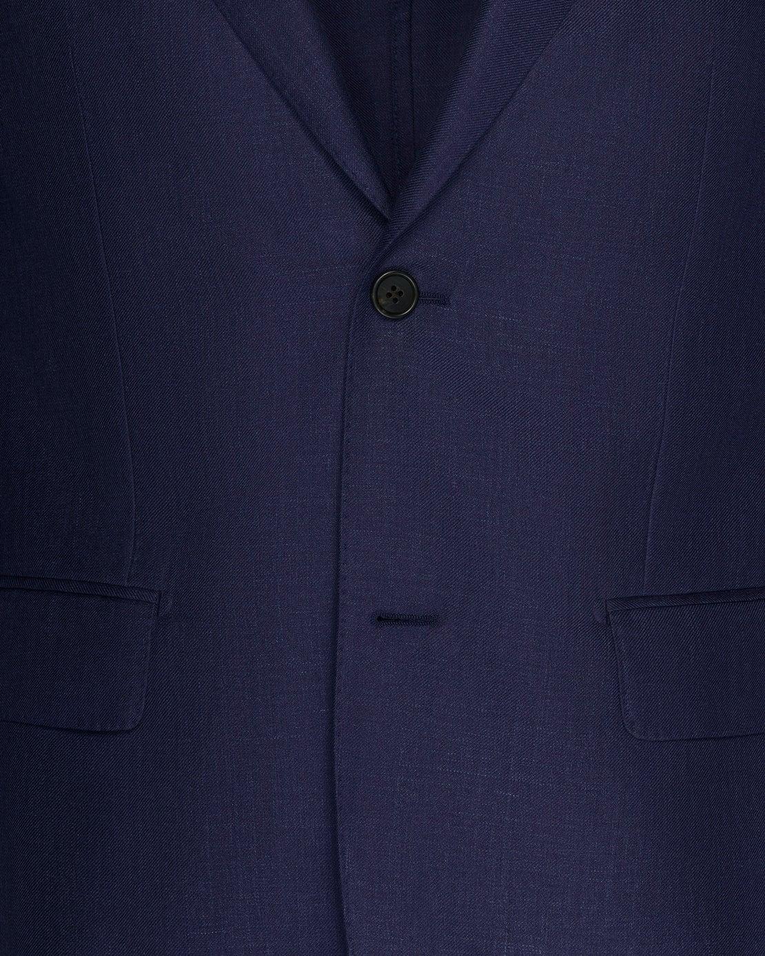 Midnight Blue Loro Piana Silk, Linen & Wool Jacket