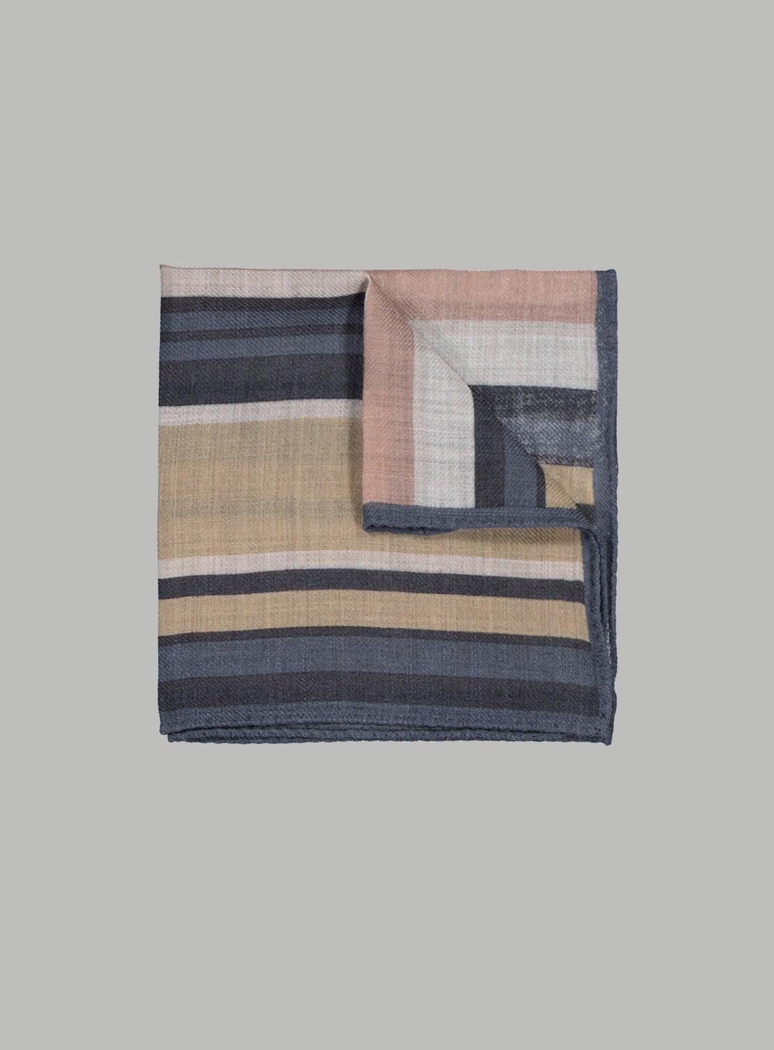 Multi Coloured Stripe Pocket Square