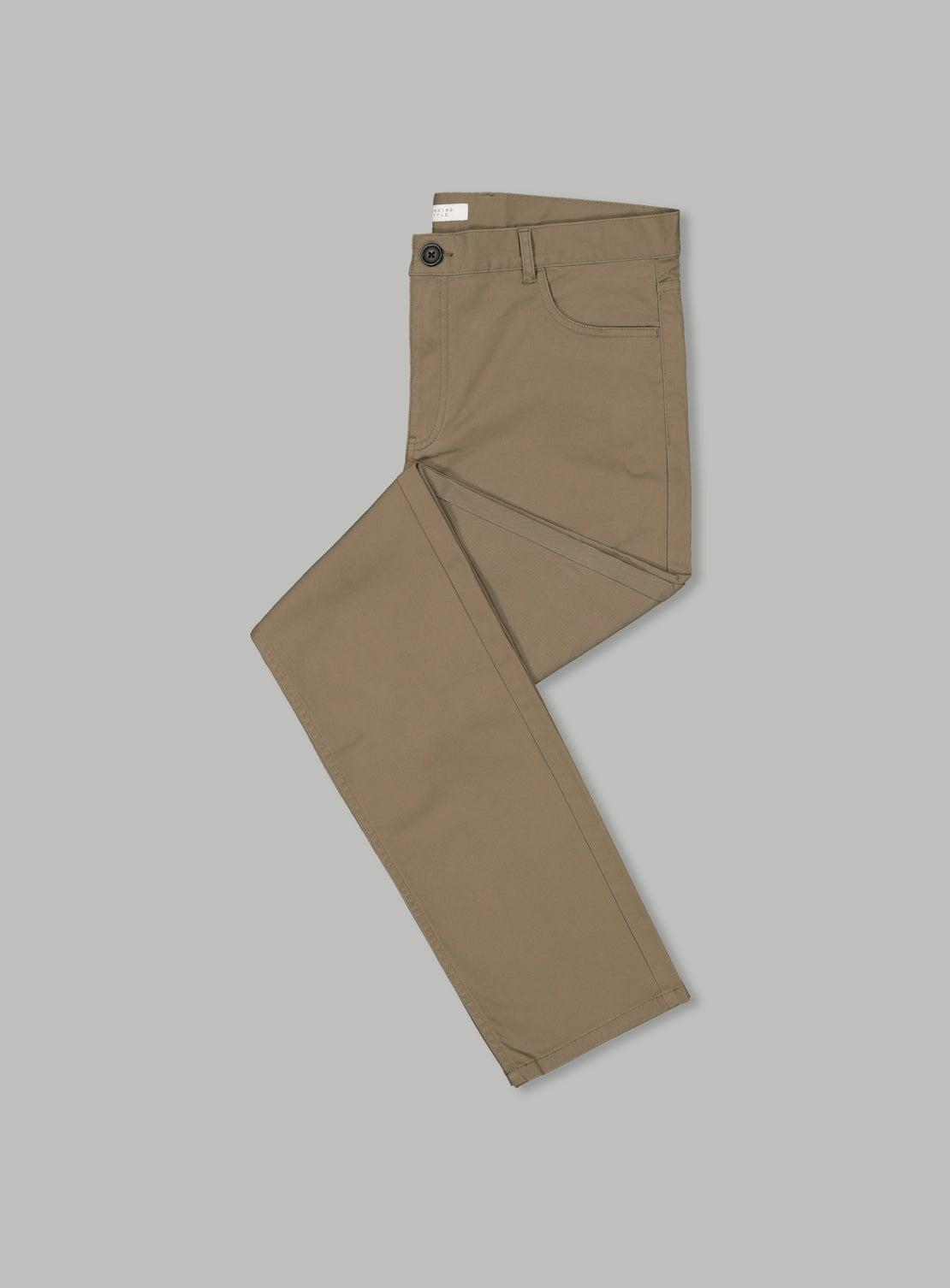 Mushroom Abe 5 Pocket Trouser