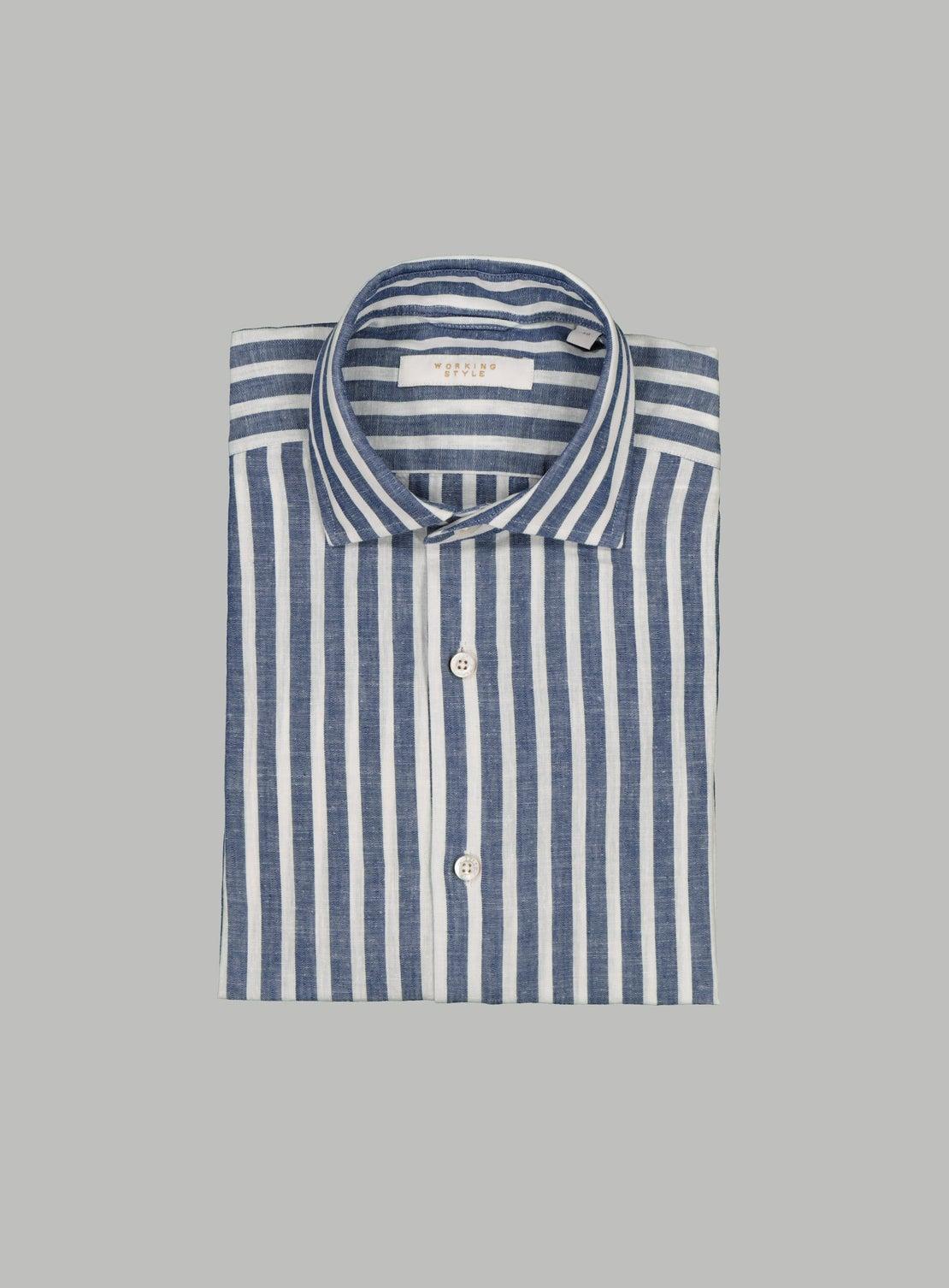 Navy Bengal Stripe Shirt