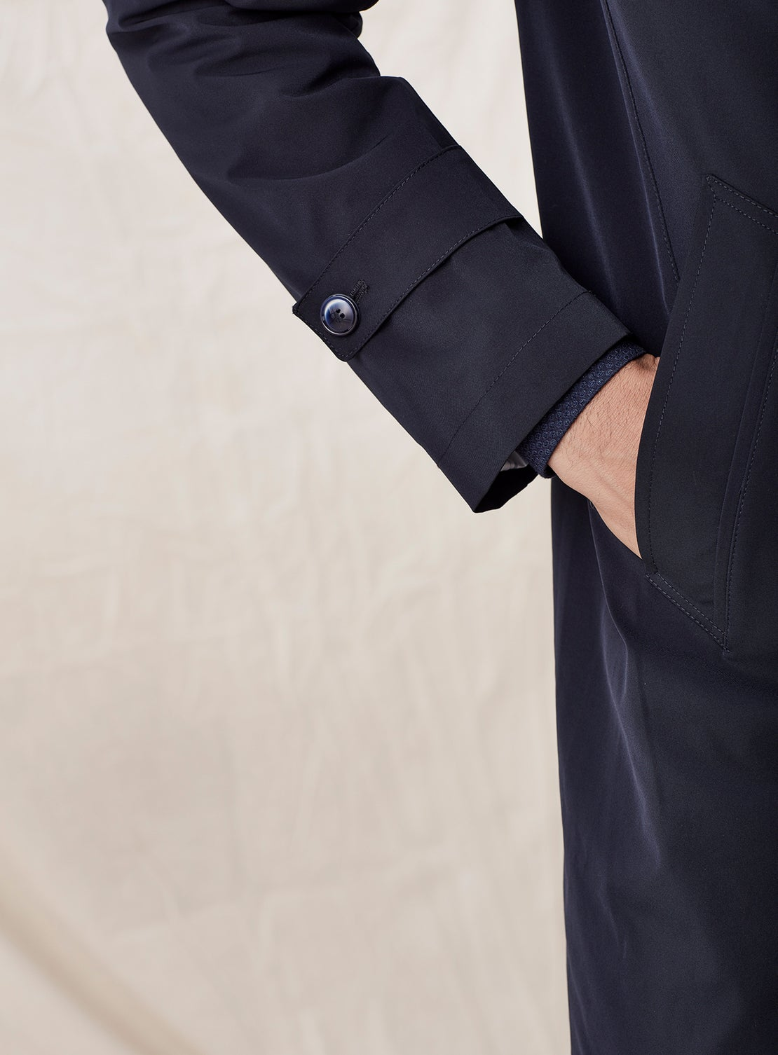 Navy Button Coat