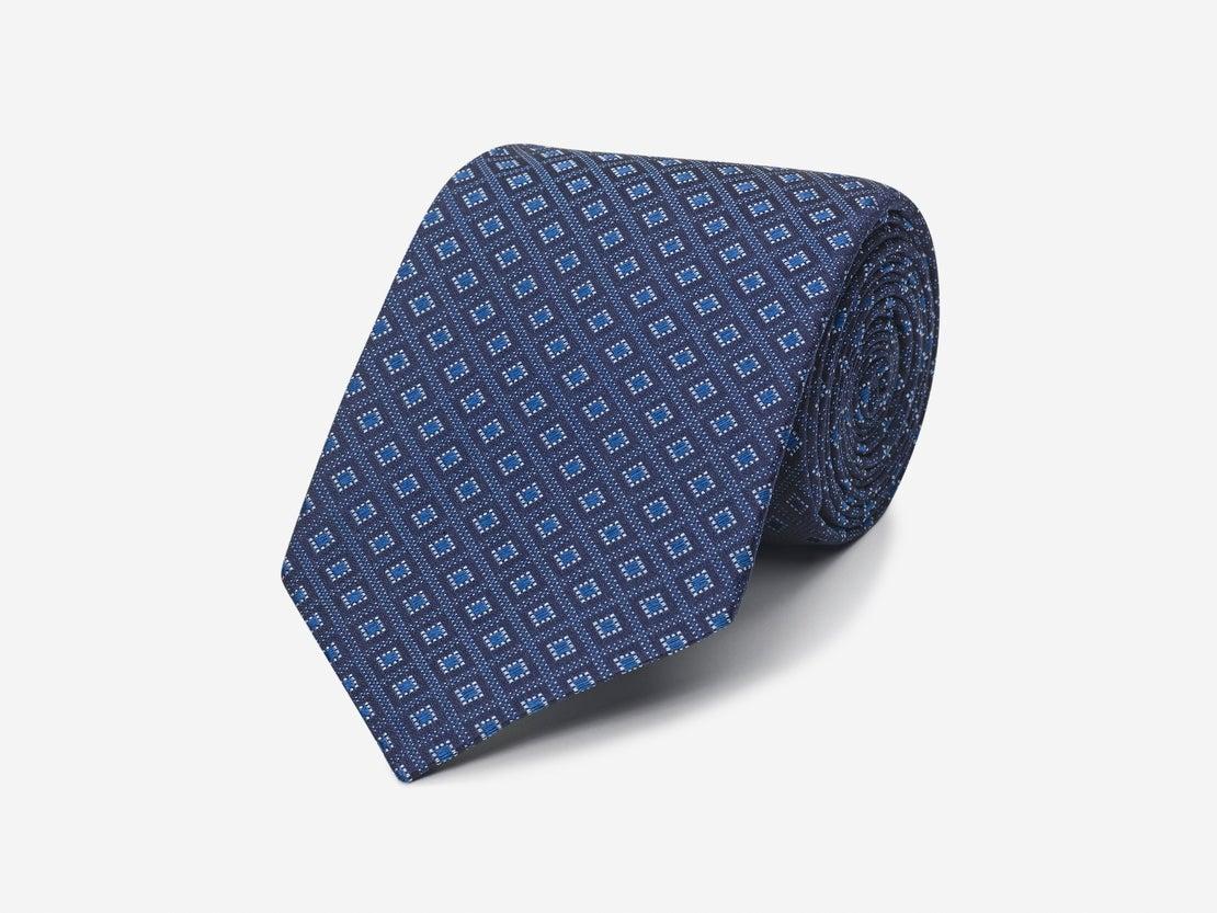 Navy Diamond Repeat Tie