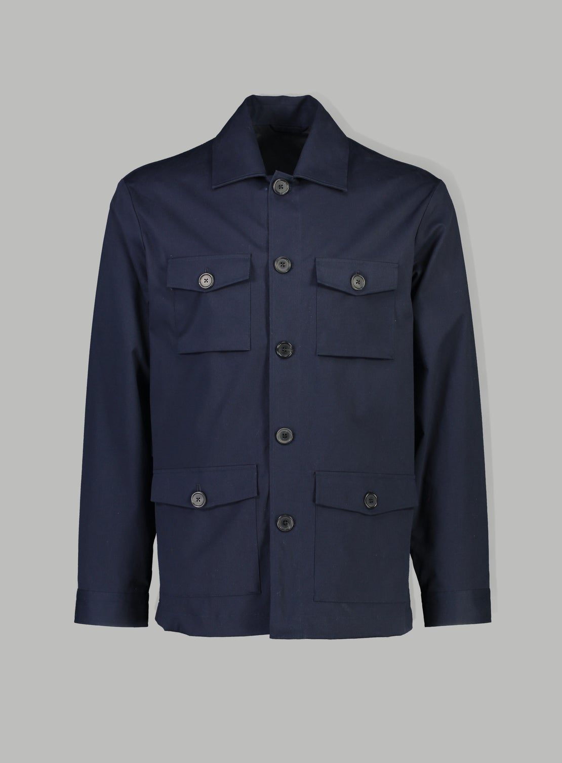 Navy Light Ribbed Coat