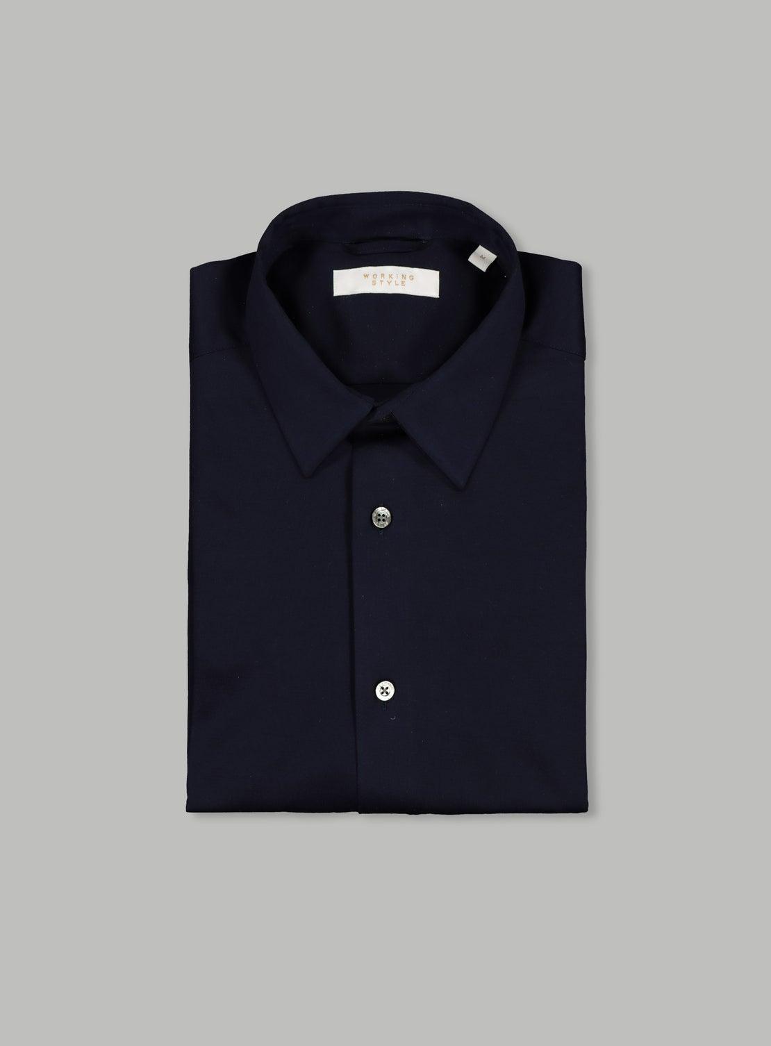Navy Mercerized Knit Shirt