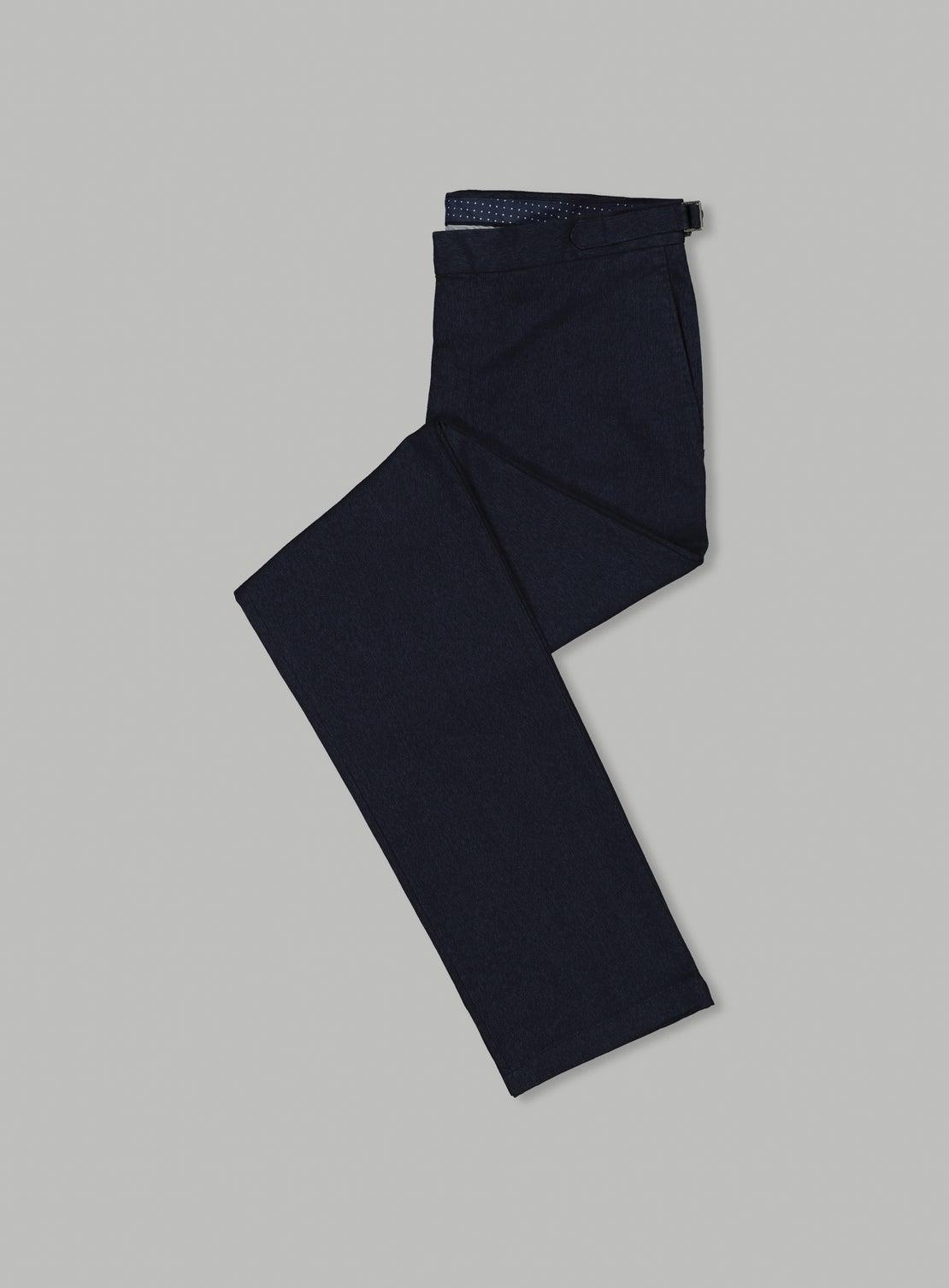 Navy Mottled Trouser