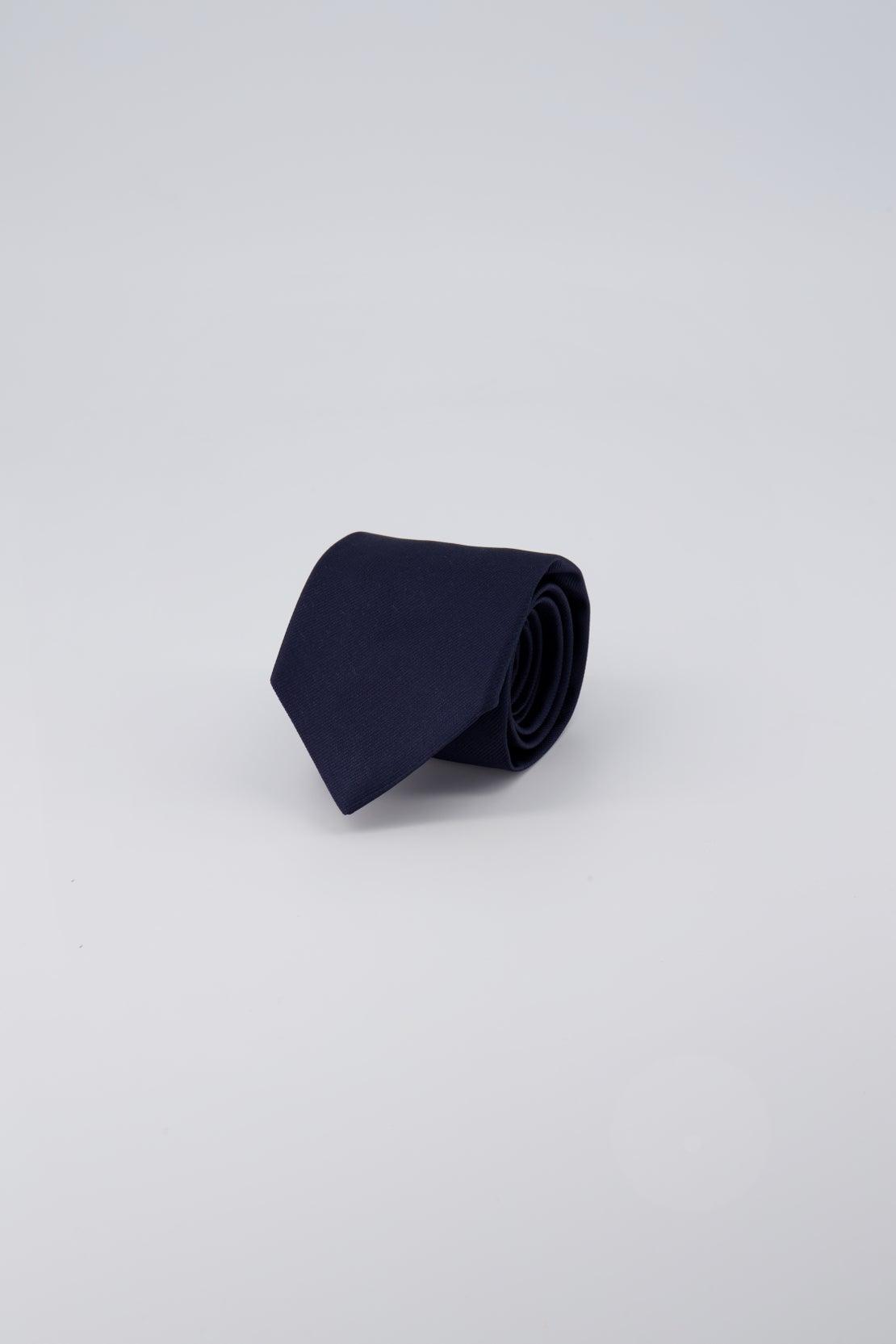 Navy Plain Twill Tie