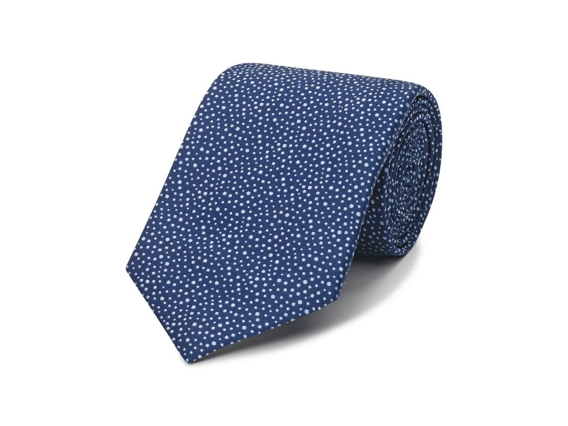 Navy Raised Dot Tie