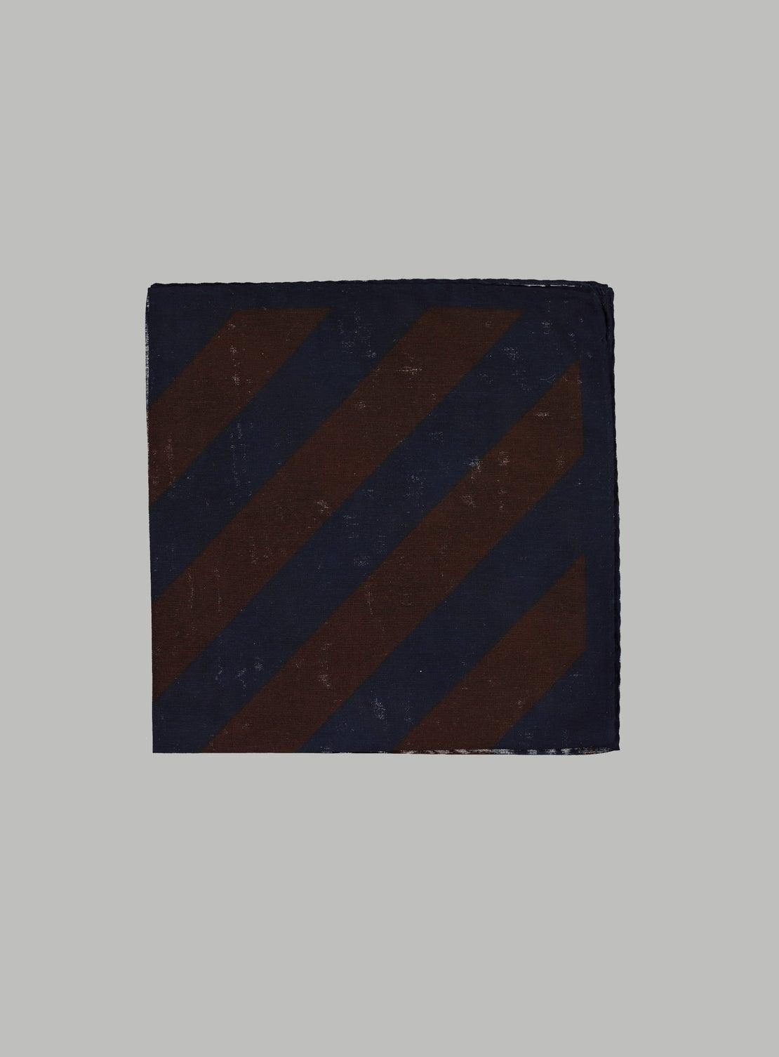 Navy Stripe Pocket Square
