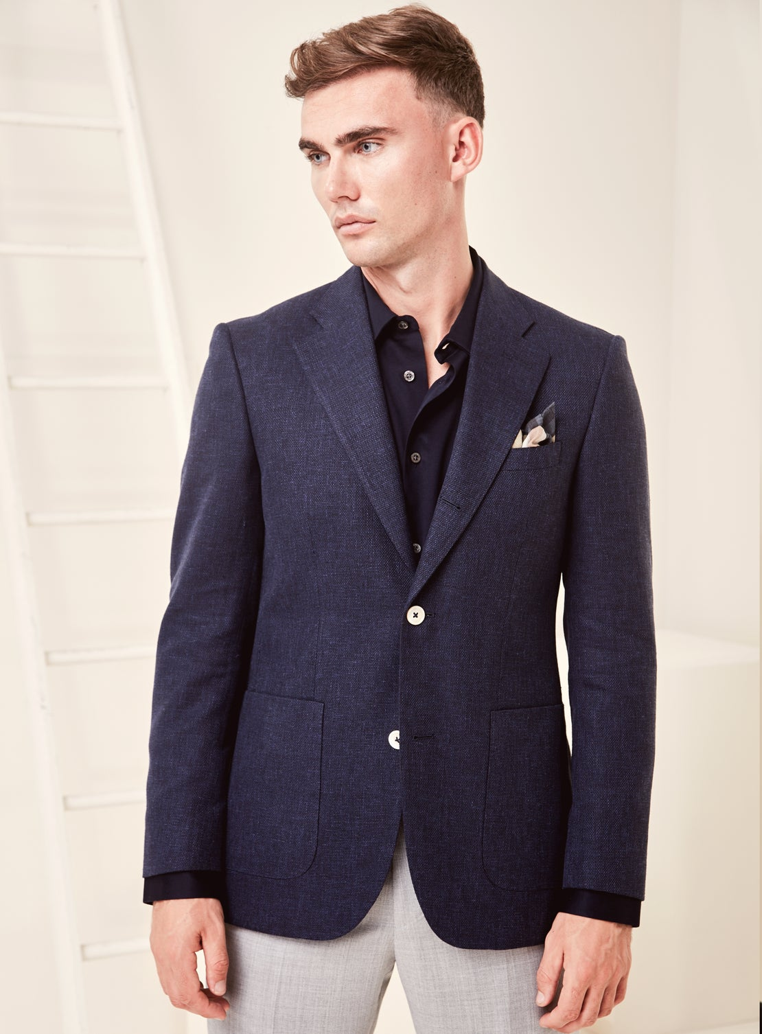 Navy Texture Jacket