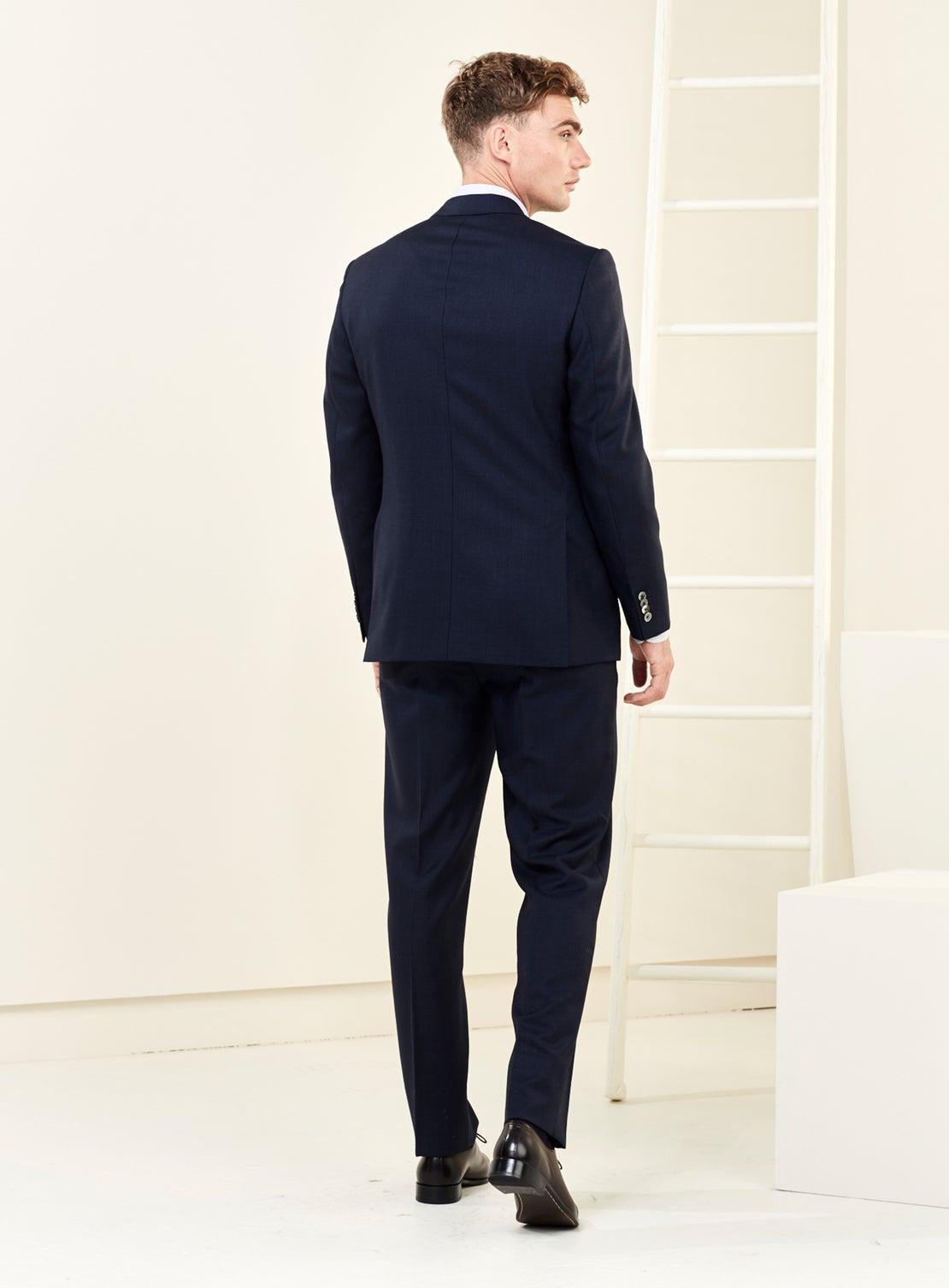 Navy Texture Suit