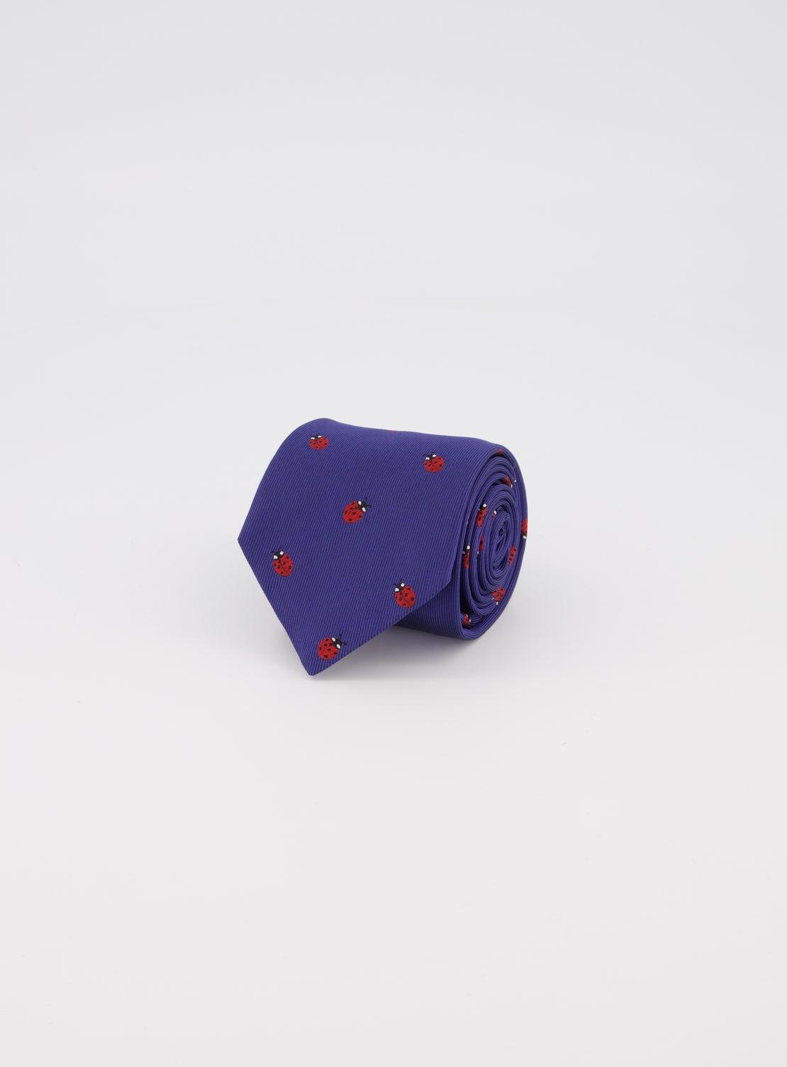 Navy with Ladybird Design Tie