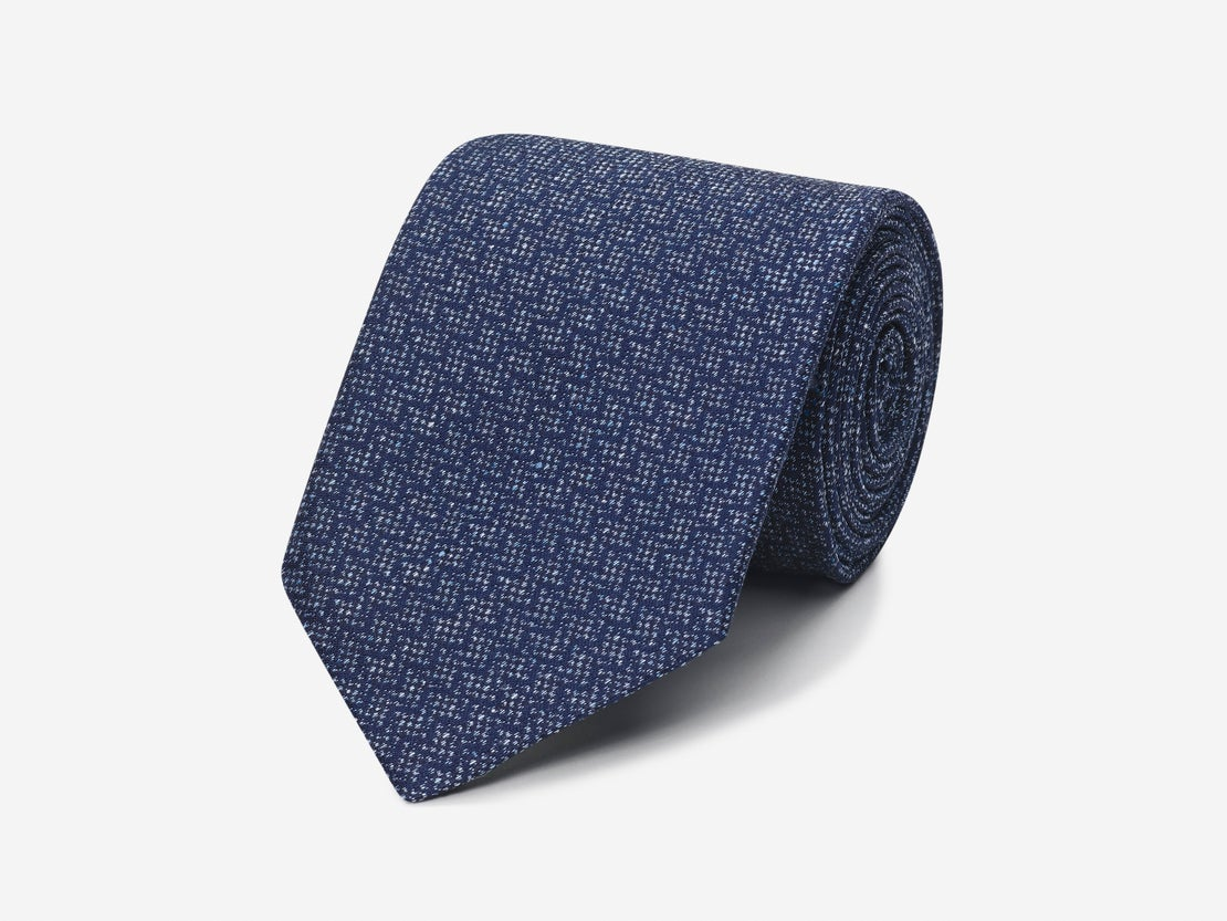 Navy Zig Zag Tie