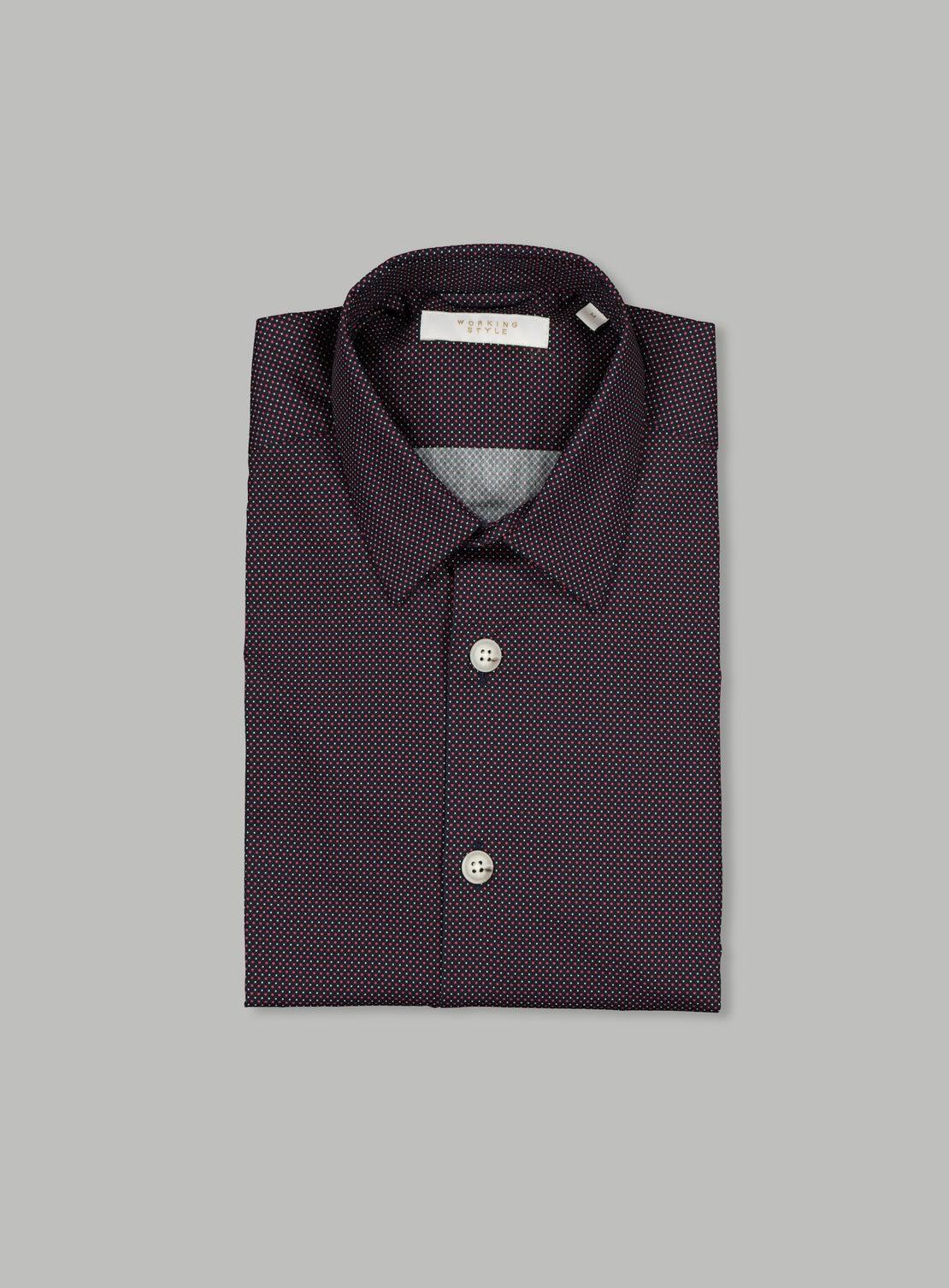Navy/Red/White Dots Shirt