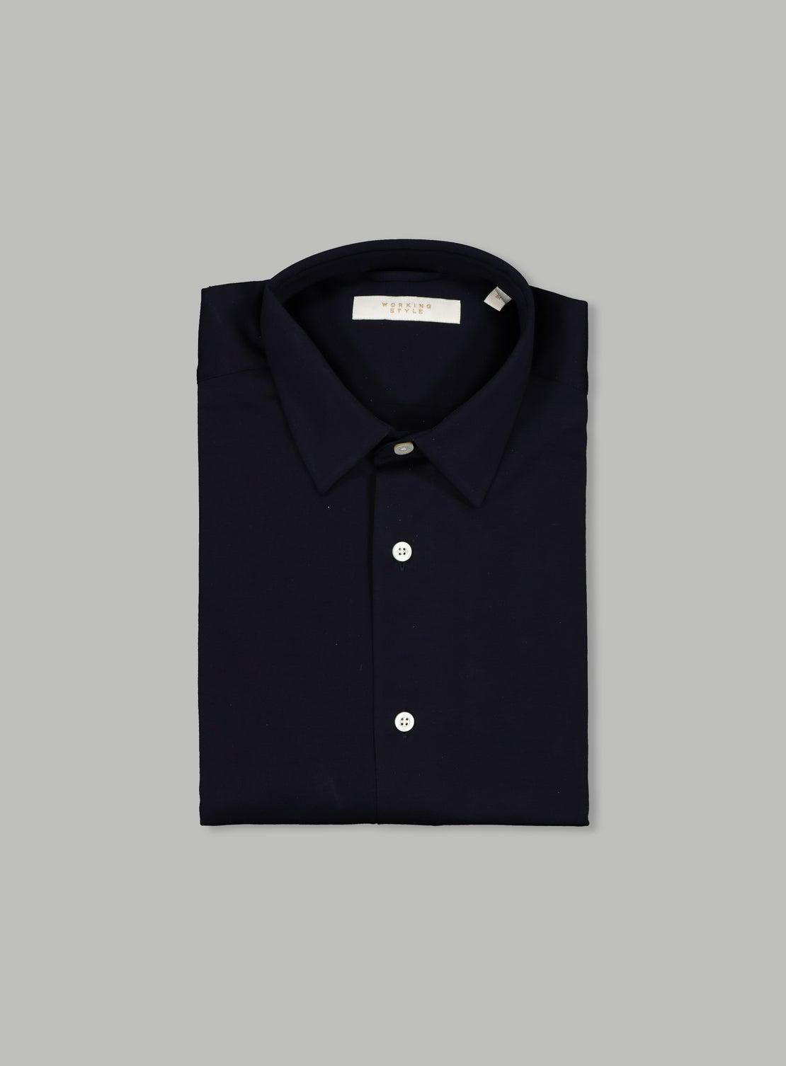 Ned Navy Knit Shirt