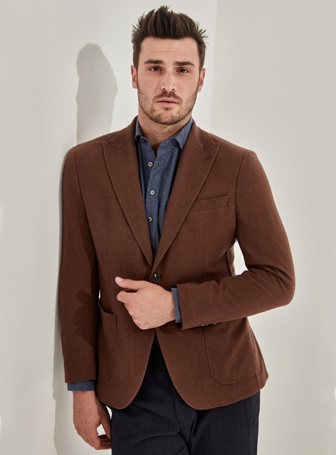 Nelson Rust Jersey Twill Jacket