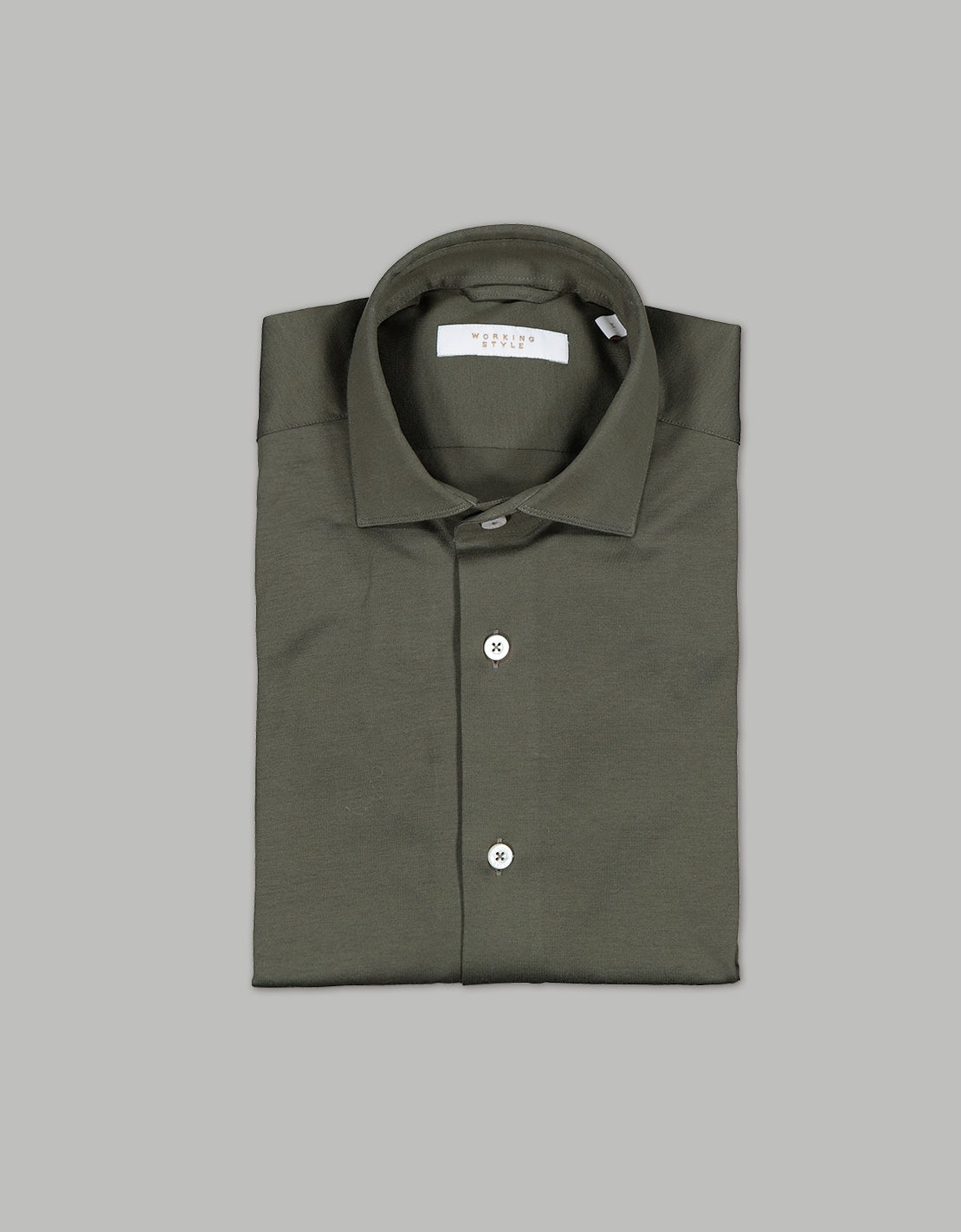 Olive Green Knitted Shirt