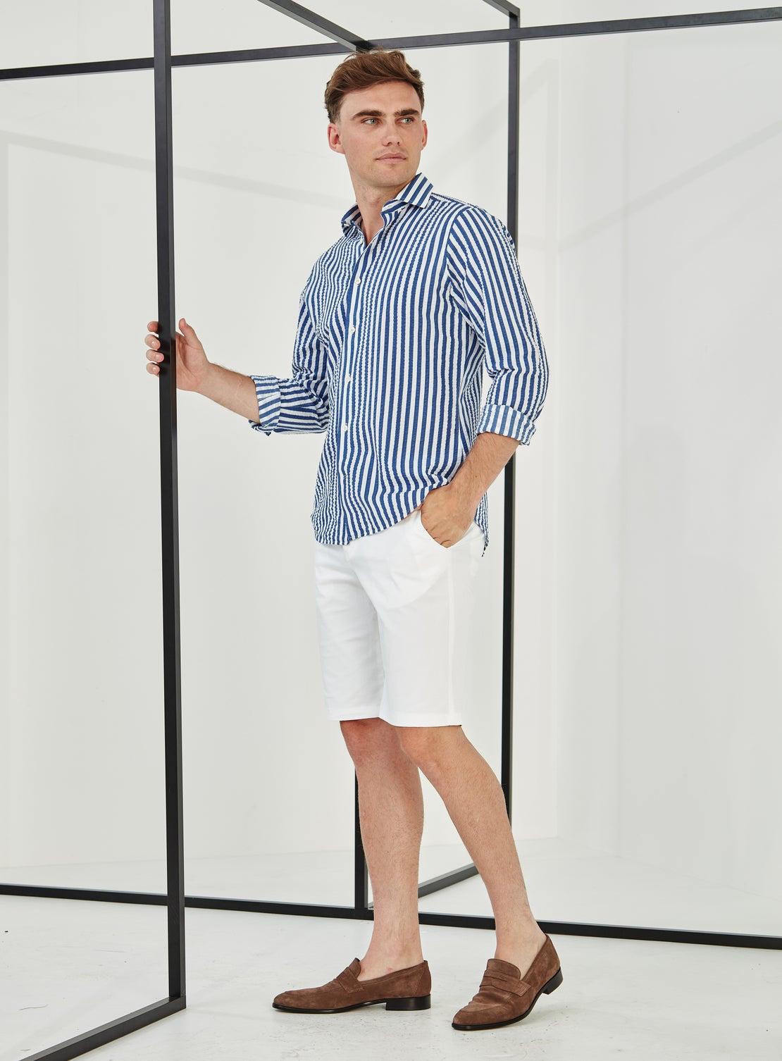 Painted Bengal Seersucker Stripe Shirt