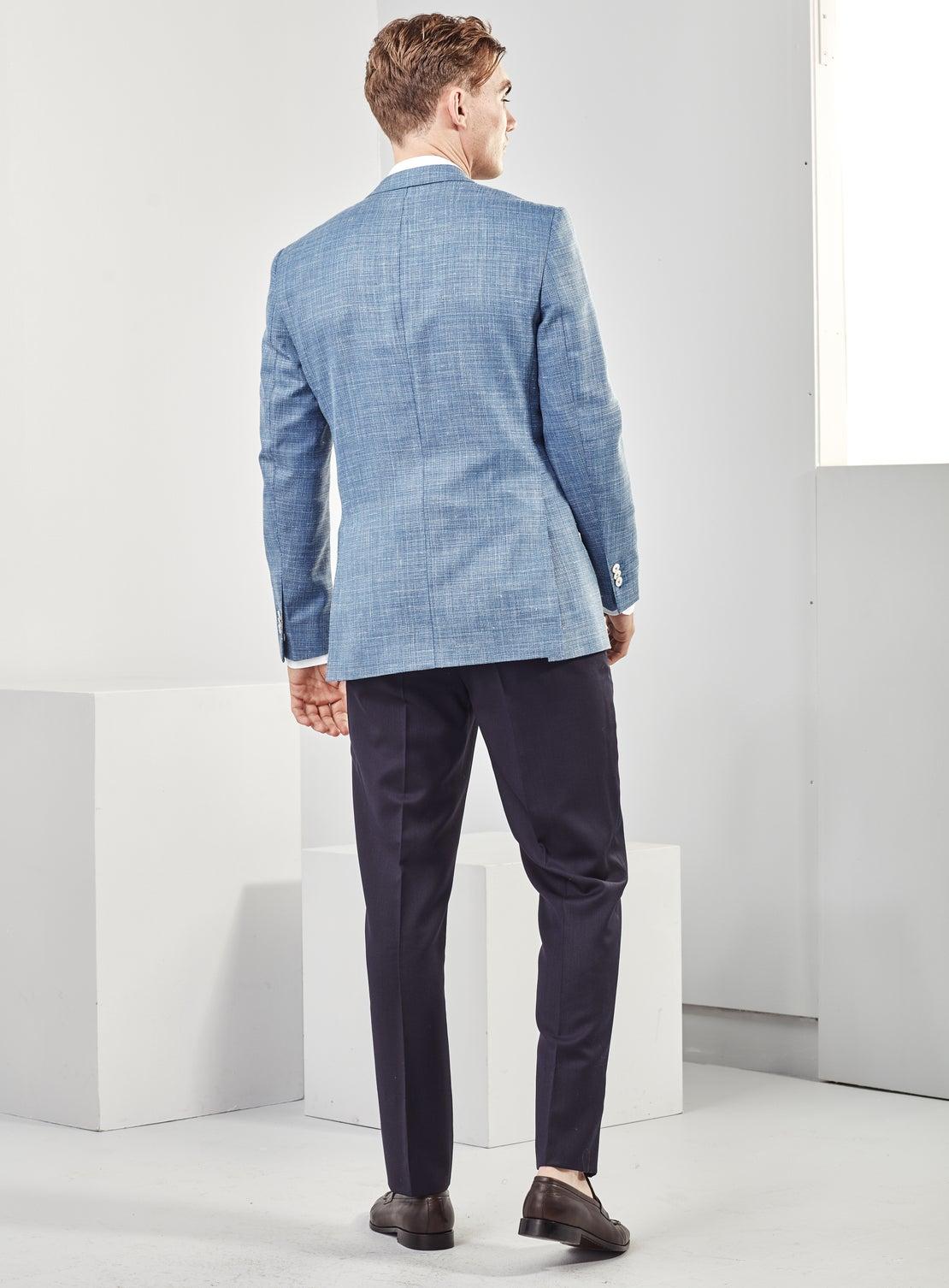 Pale Blue Basketweave Jacket