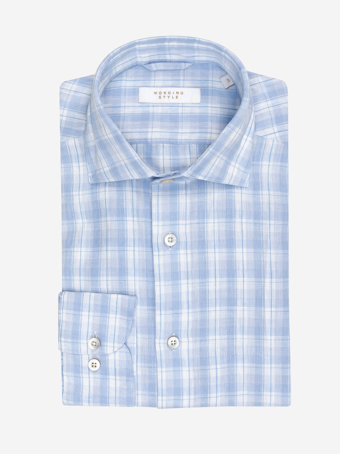Pale Blue Check Shirt
