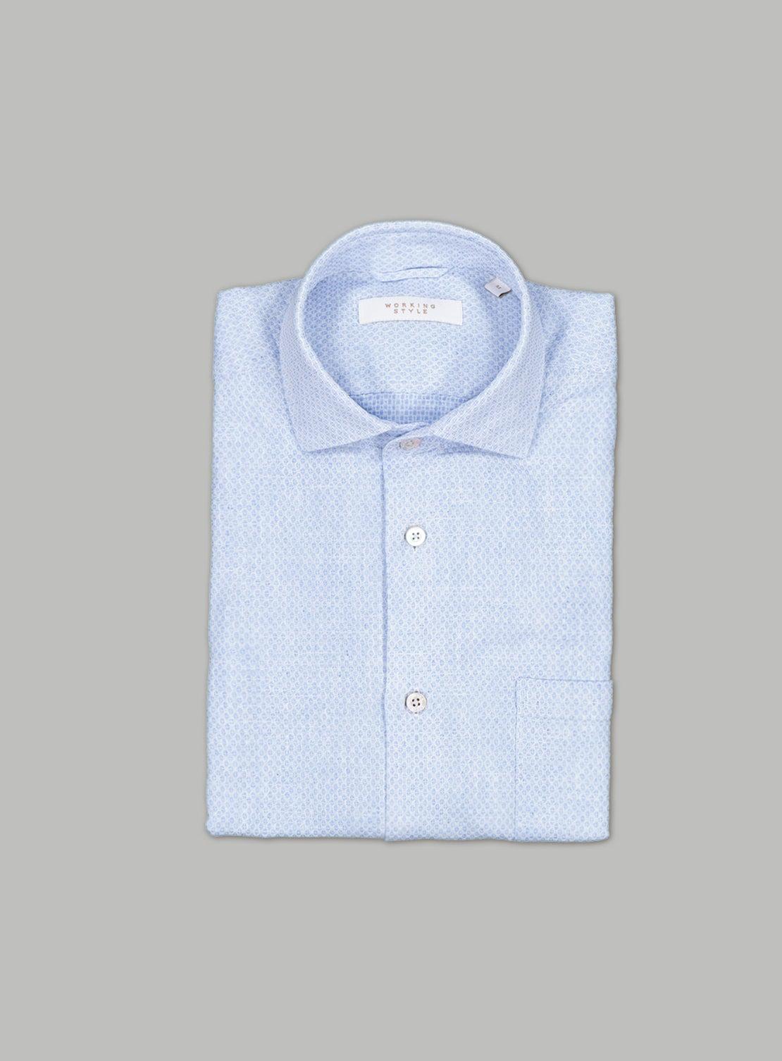 Pale Blue Hash Shirt