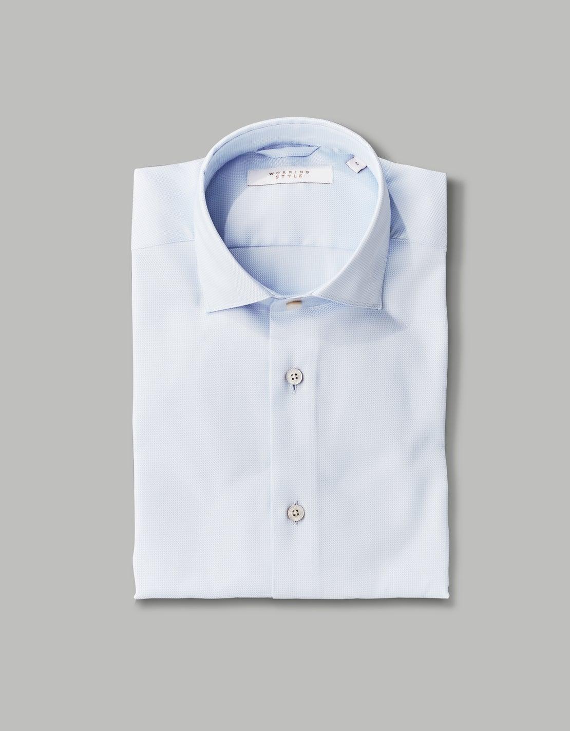 Pale Blue Micro Puppytooth Shirt