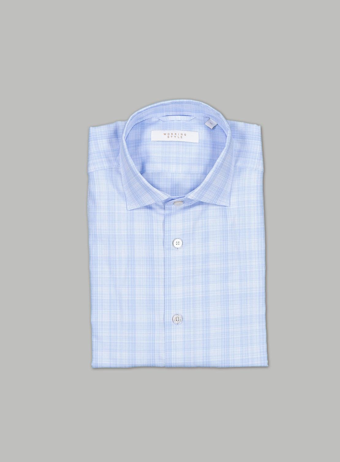 Pale Blue POW Check Shirt