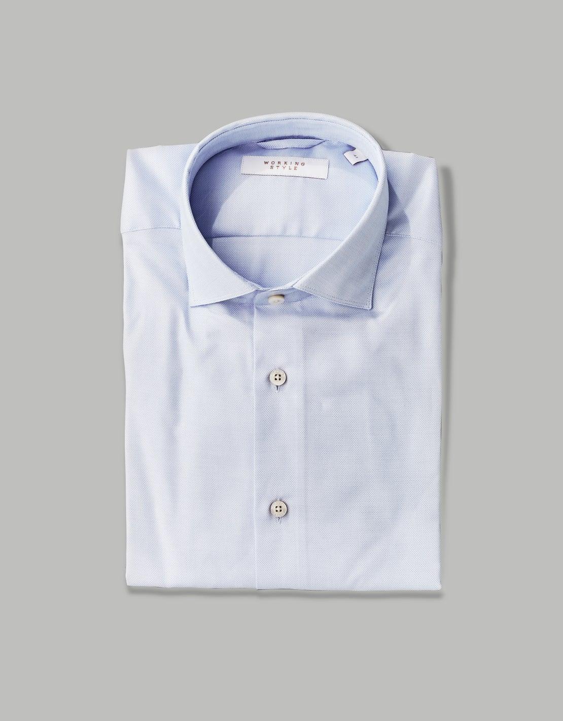 Pale Blue Step Weave Shirt
