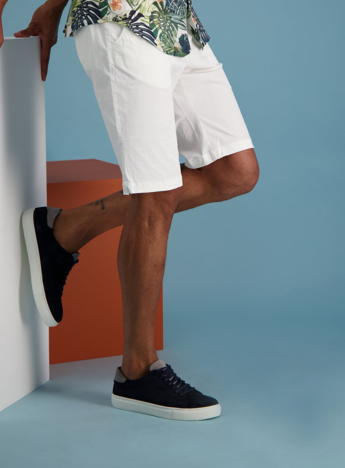 Palmer White Shorts