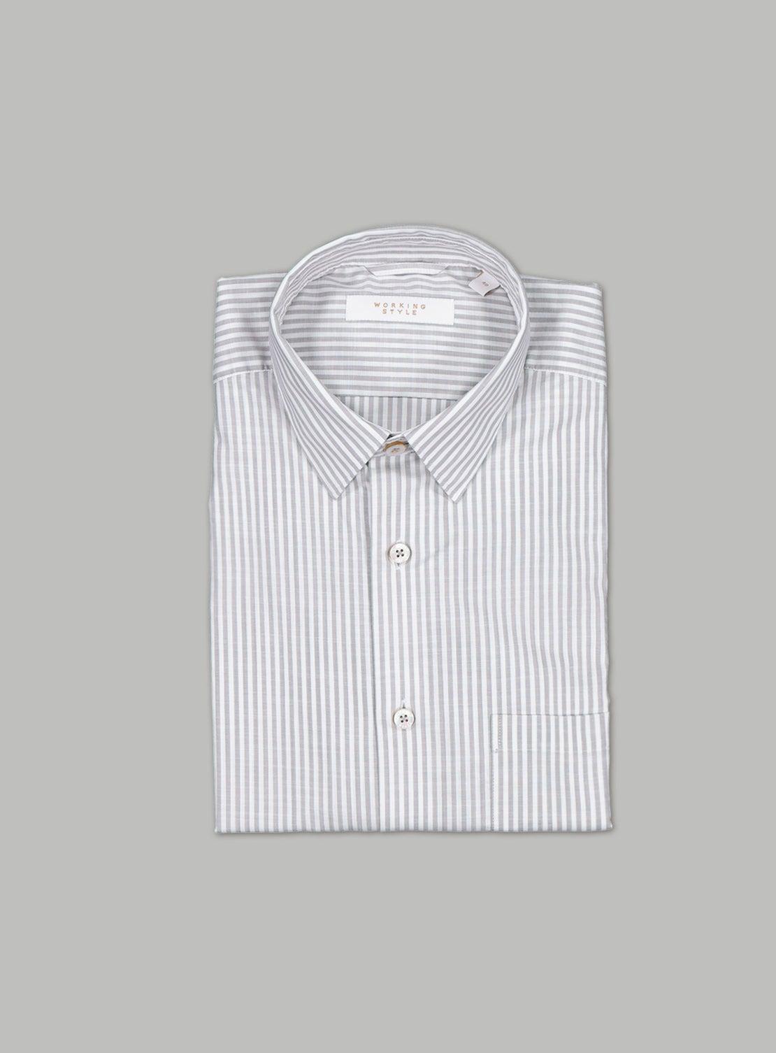 Pewter & White Bengal Stripe Shirt