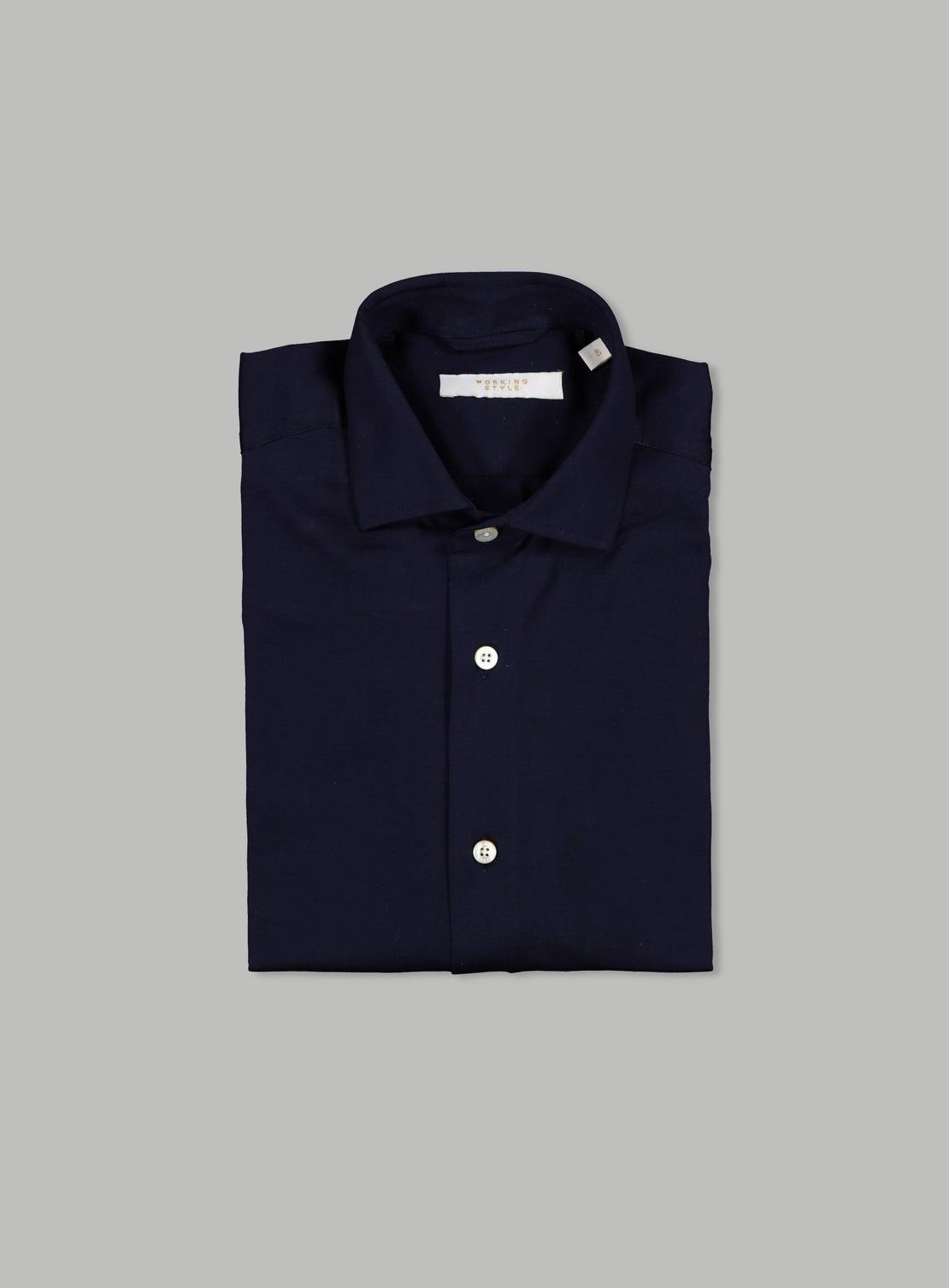 Piero Navy Long Sleeve Shirt