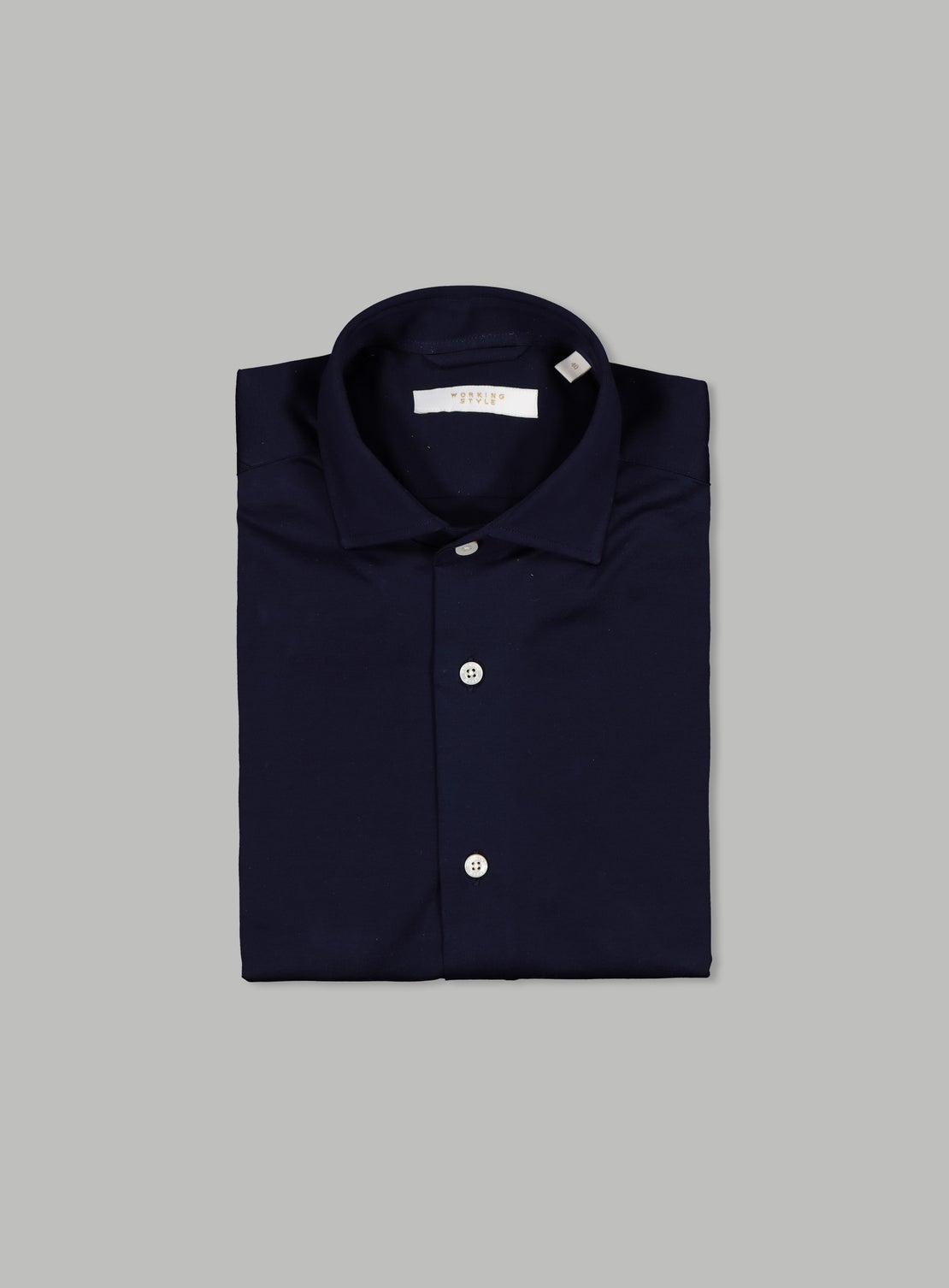 Piero Navy Short Sleeve Shirt