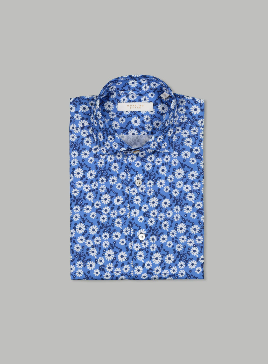 Pierre Blue Floral Shirt