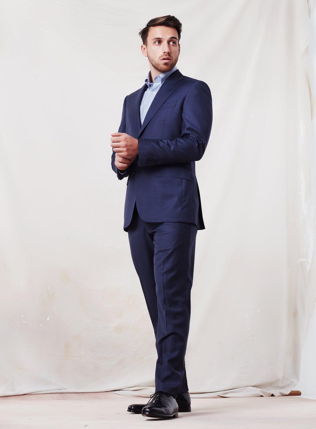 Plain Ash Blue Suit Jacket