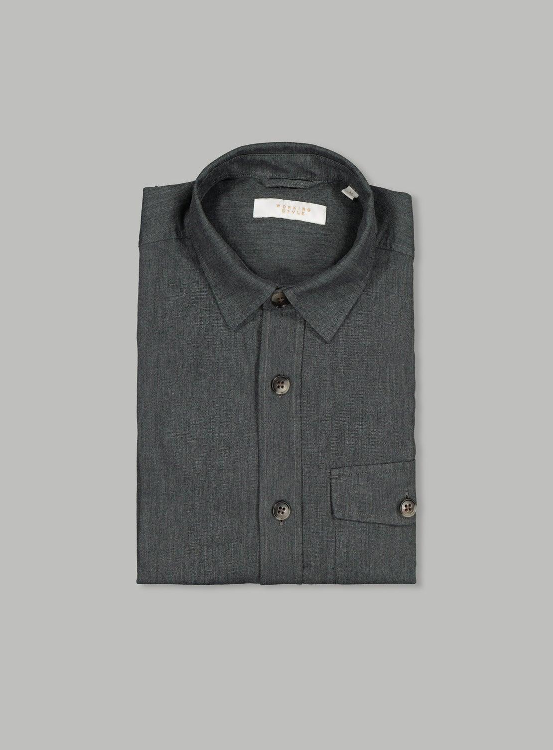 Plain Grey Pocket Shirt