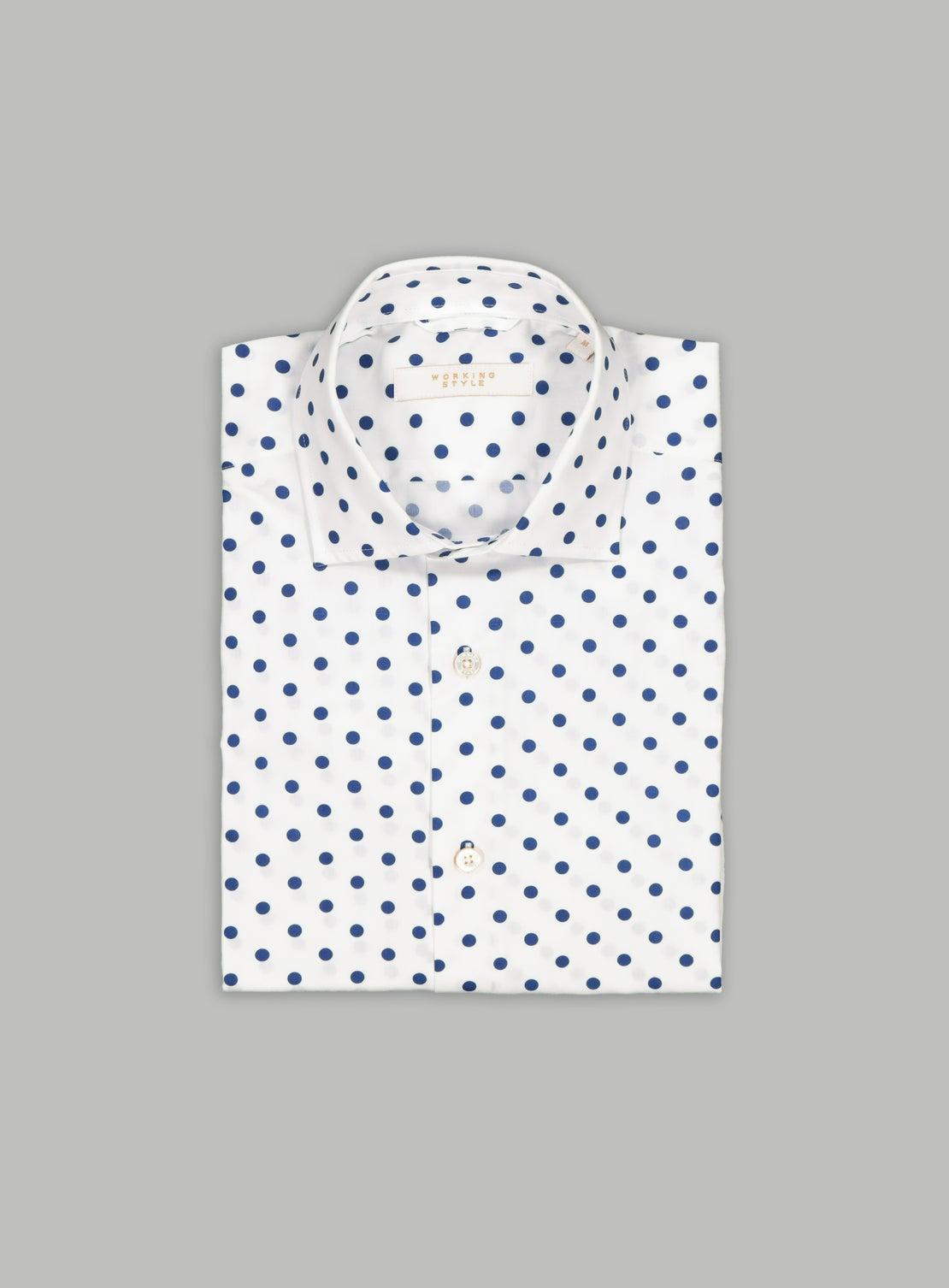 Polka Dot Stretch Shirt