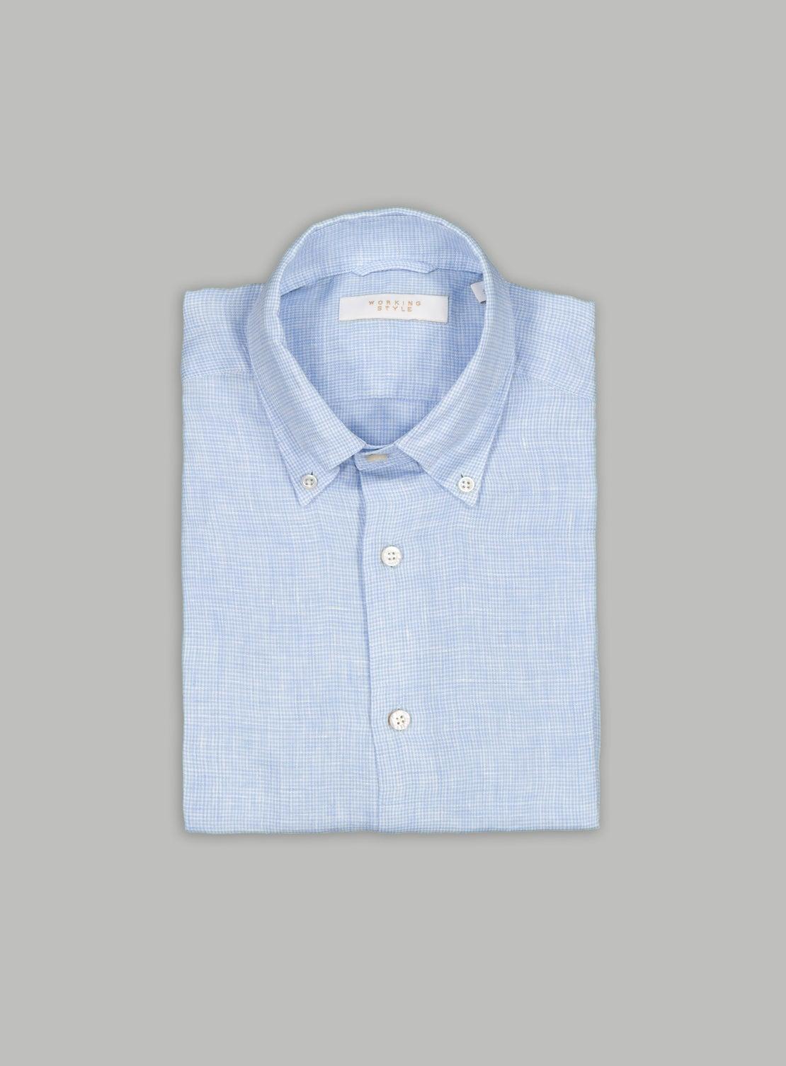 PuppyTooth Button Down Linen Shirt