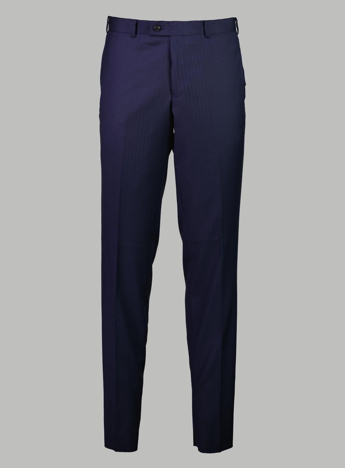 Rene Blue Herringbone Suit